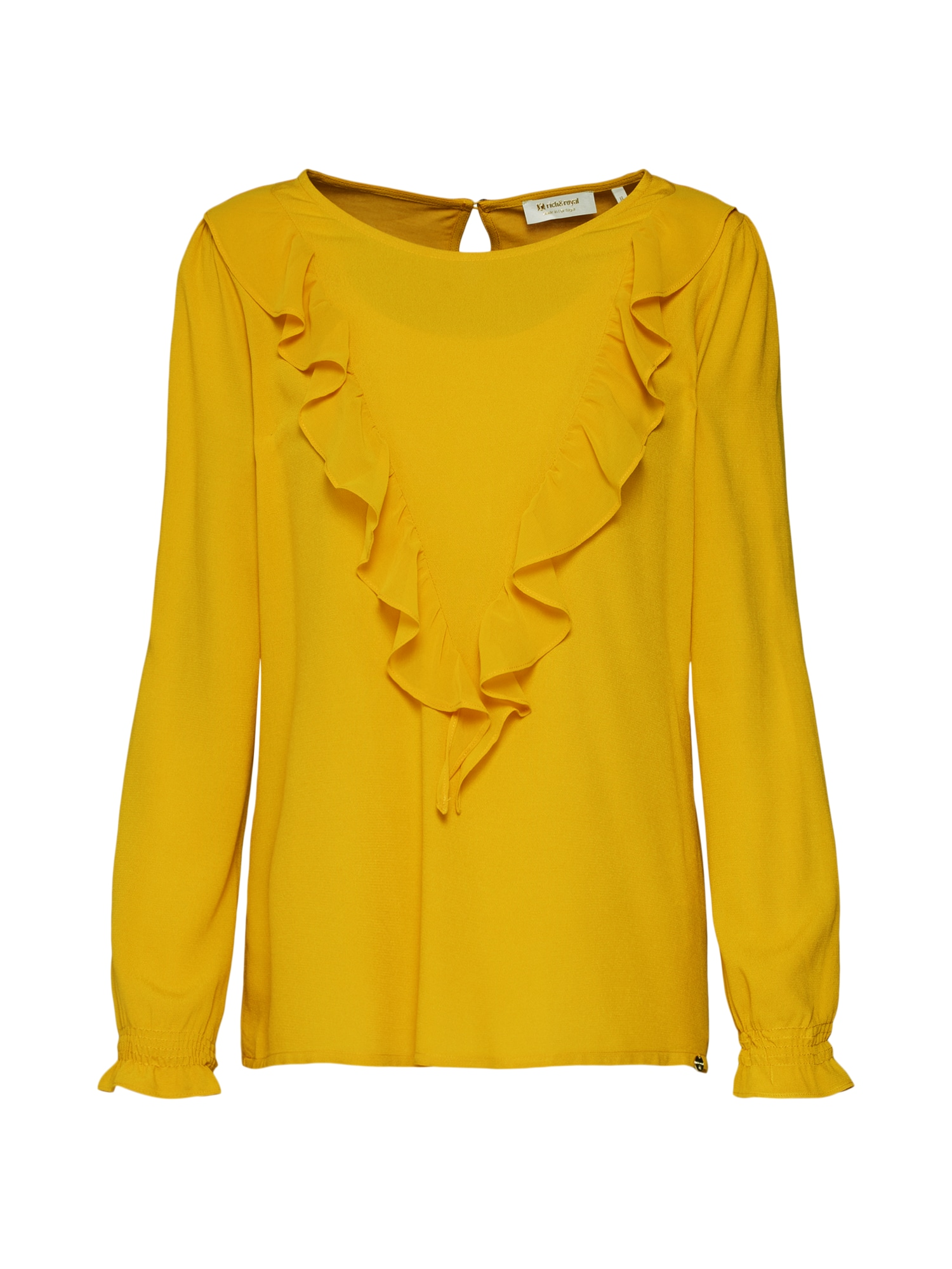 Tričko citronově žlutá Rich & Royal