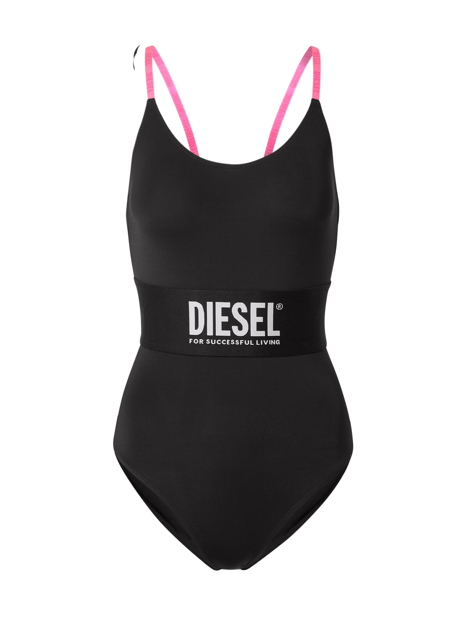 DIESEL Maudymosi kostiumėlis juoda / rožinė