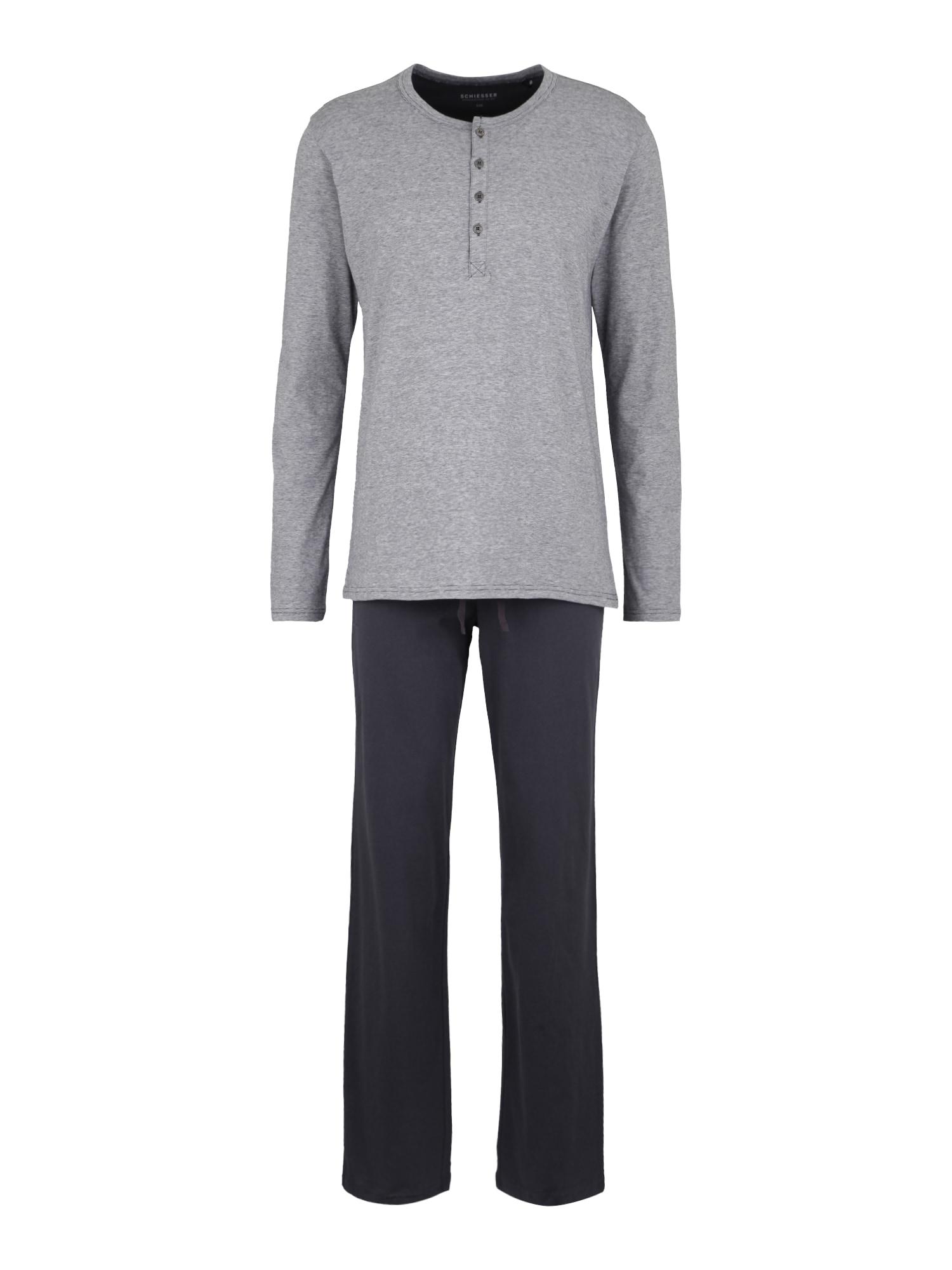 Pyžamové kalhoty antracitová SCHIESSER