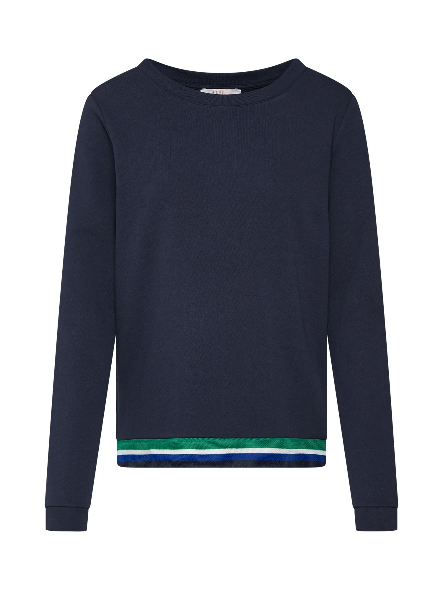 Mikina béžová modrá námořnická modř zelená bílá ESPRIT