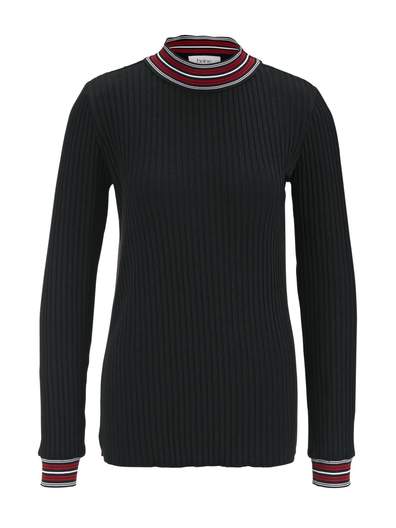 Tričko vínově červená černá bílá Heine