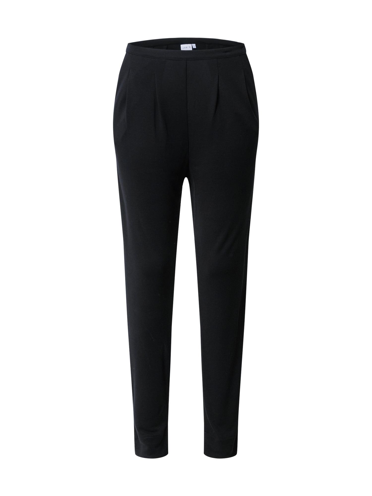 JAN 'N JUNE Plisované nohavice 'ARABIS'  čierna