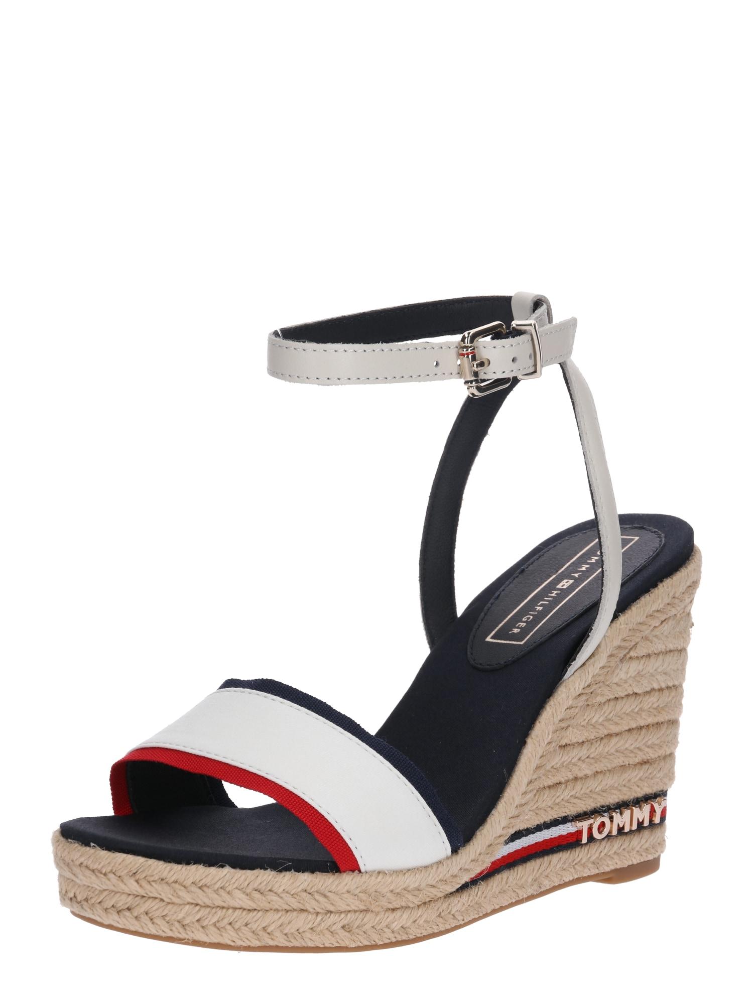 Páskové sandály Elena noční modrá červená bílá TOMMY HILFIGER