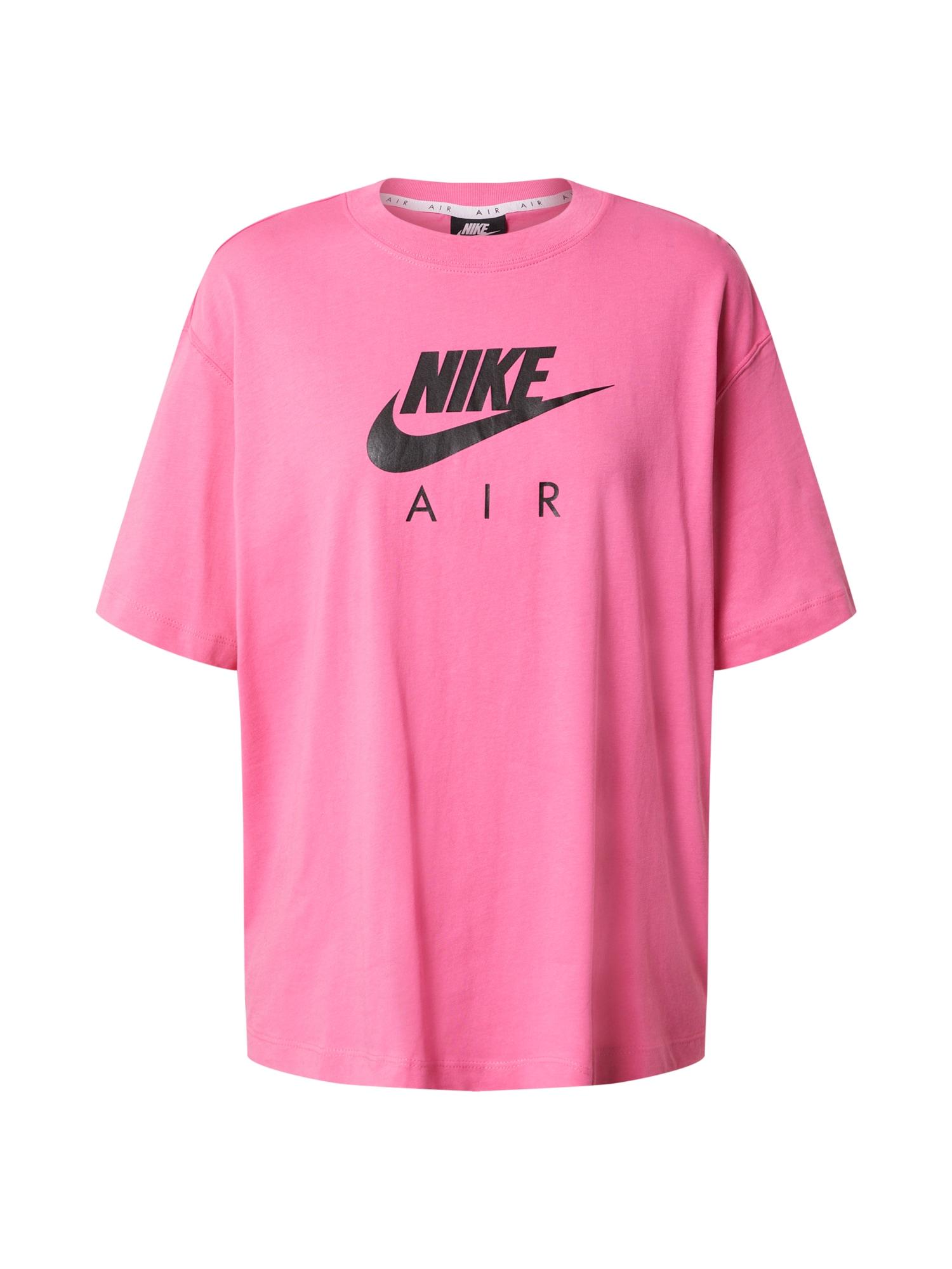 Nike Sportswear Tričko 'Air'  růžová / černá