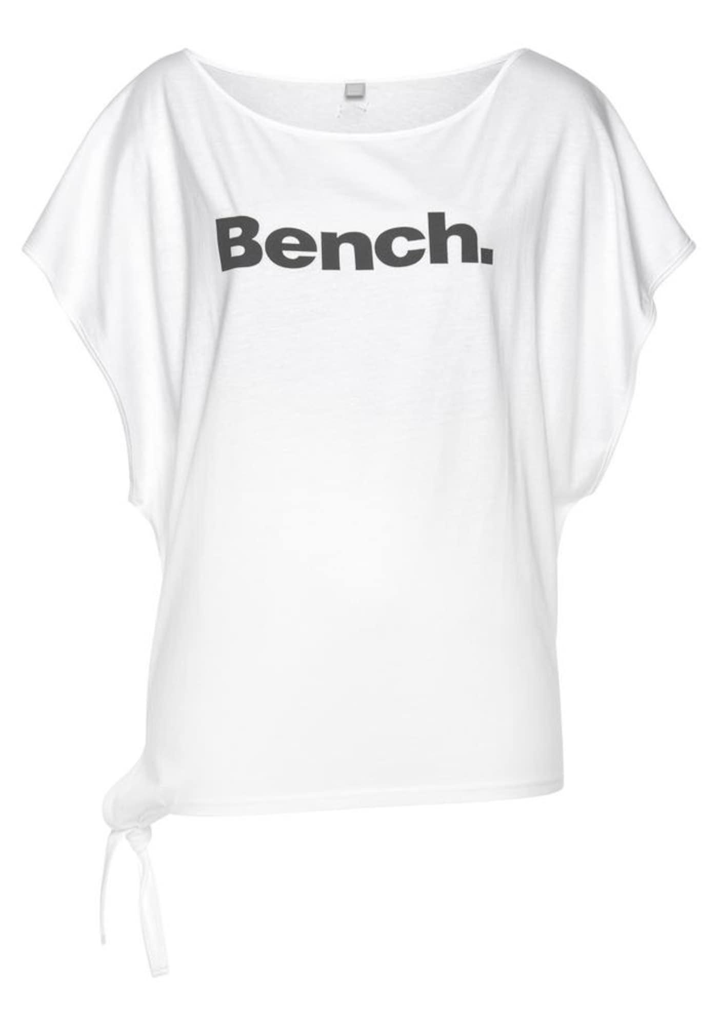 BENCH Marškinėliai balta / juoda