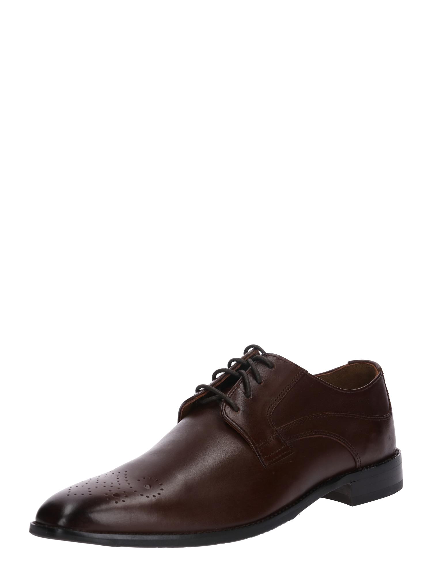 Šněrovací boty Lorenzo tmavě hnědá Gordon & Bros