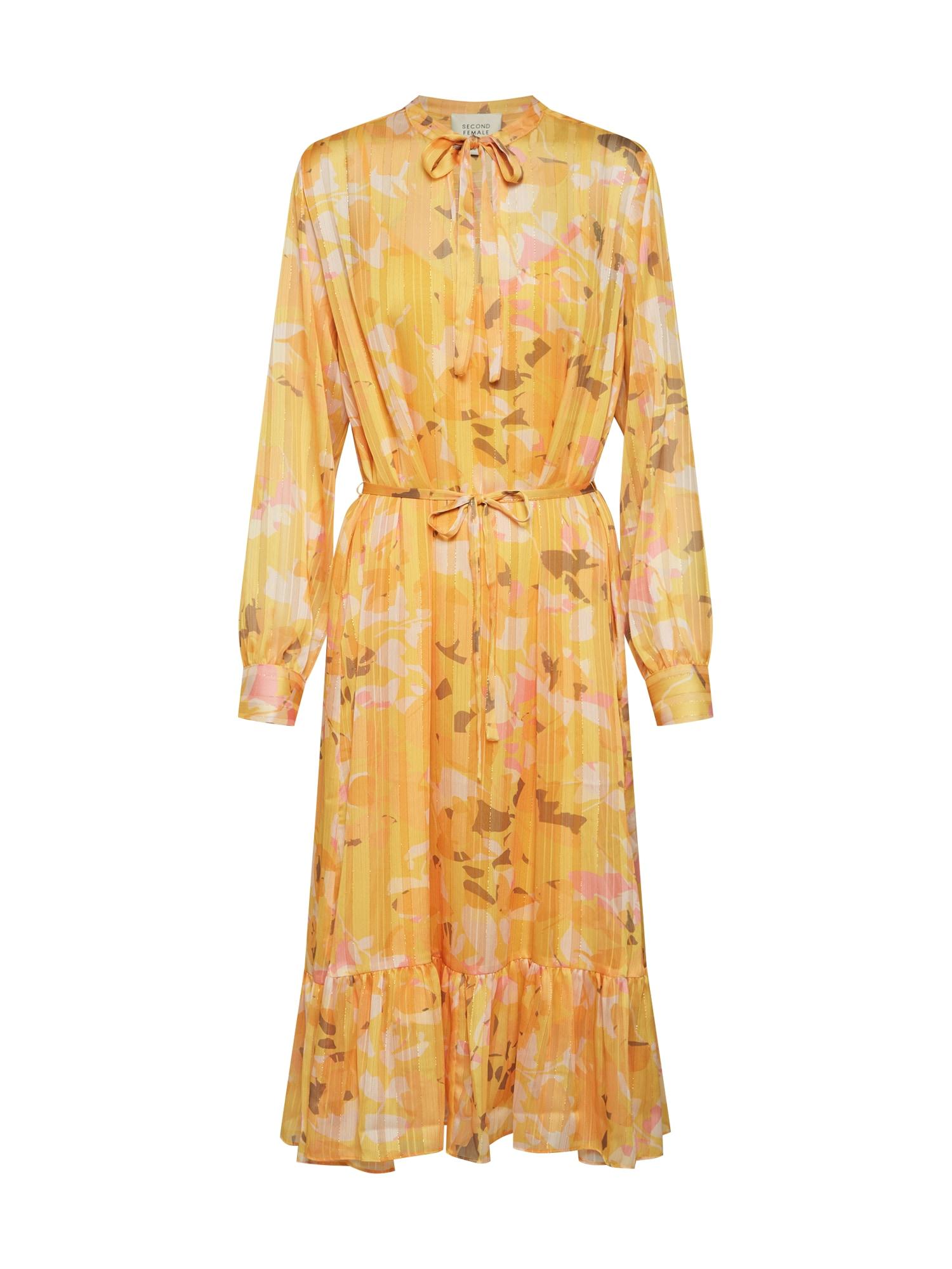 Letní šaty žlutá SECOND FEMALE