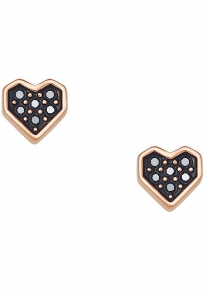 Ohrringe für Frauen - FOSSIL Ohrstecker rosegold silbergrau  - Onlineshop ABOUT YOU