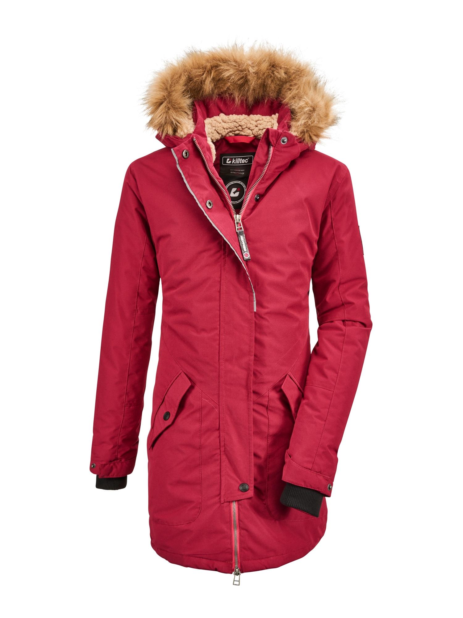 KILLTEC Laisvalaikio striukė 'Bantry' pastelinė raudona / šviesiai ruda / juoda