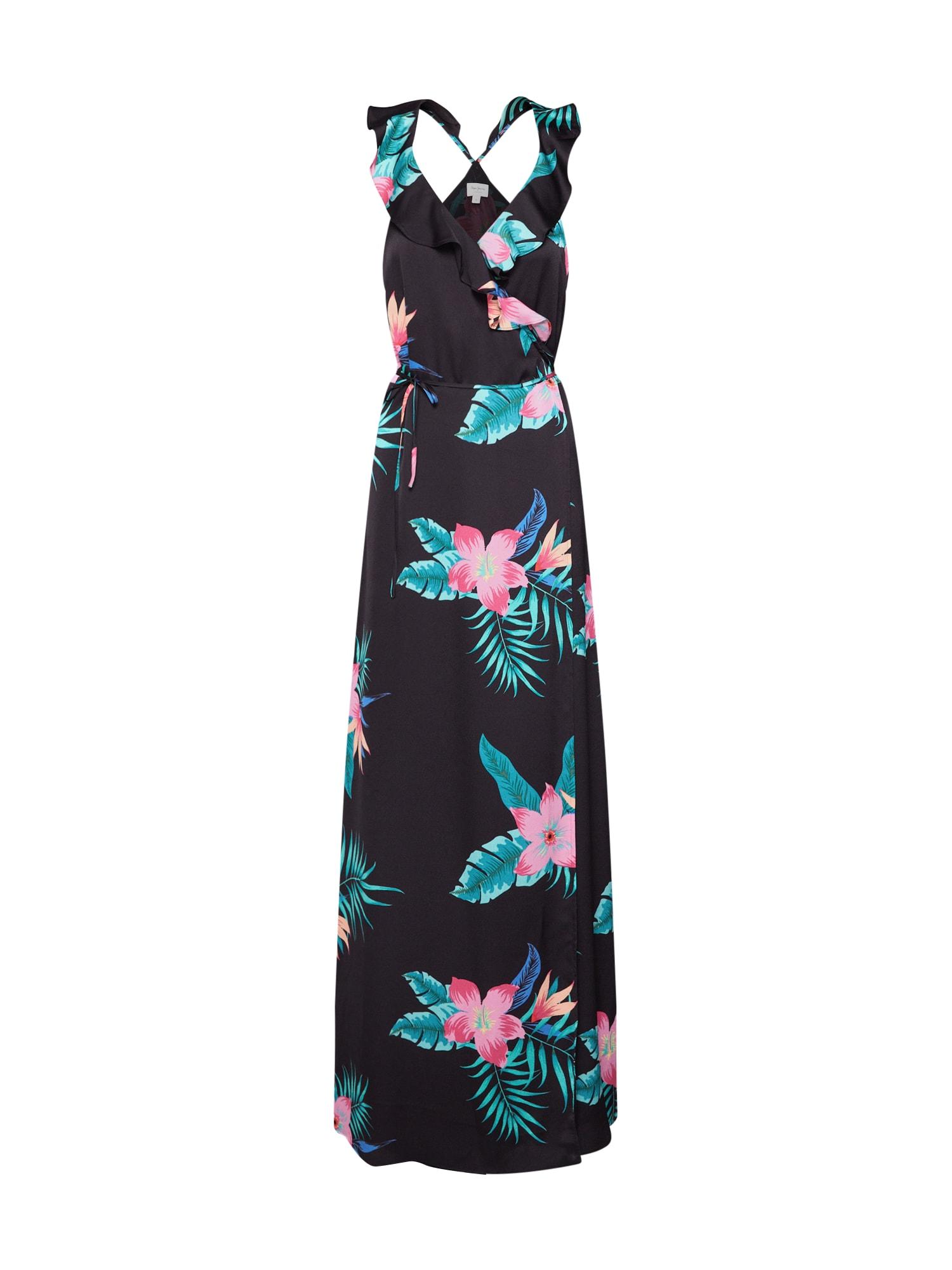 Letní šaty Manila nefritová světle růžová černá Pepe Jeans