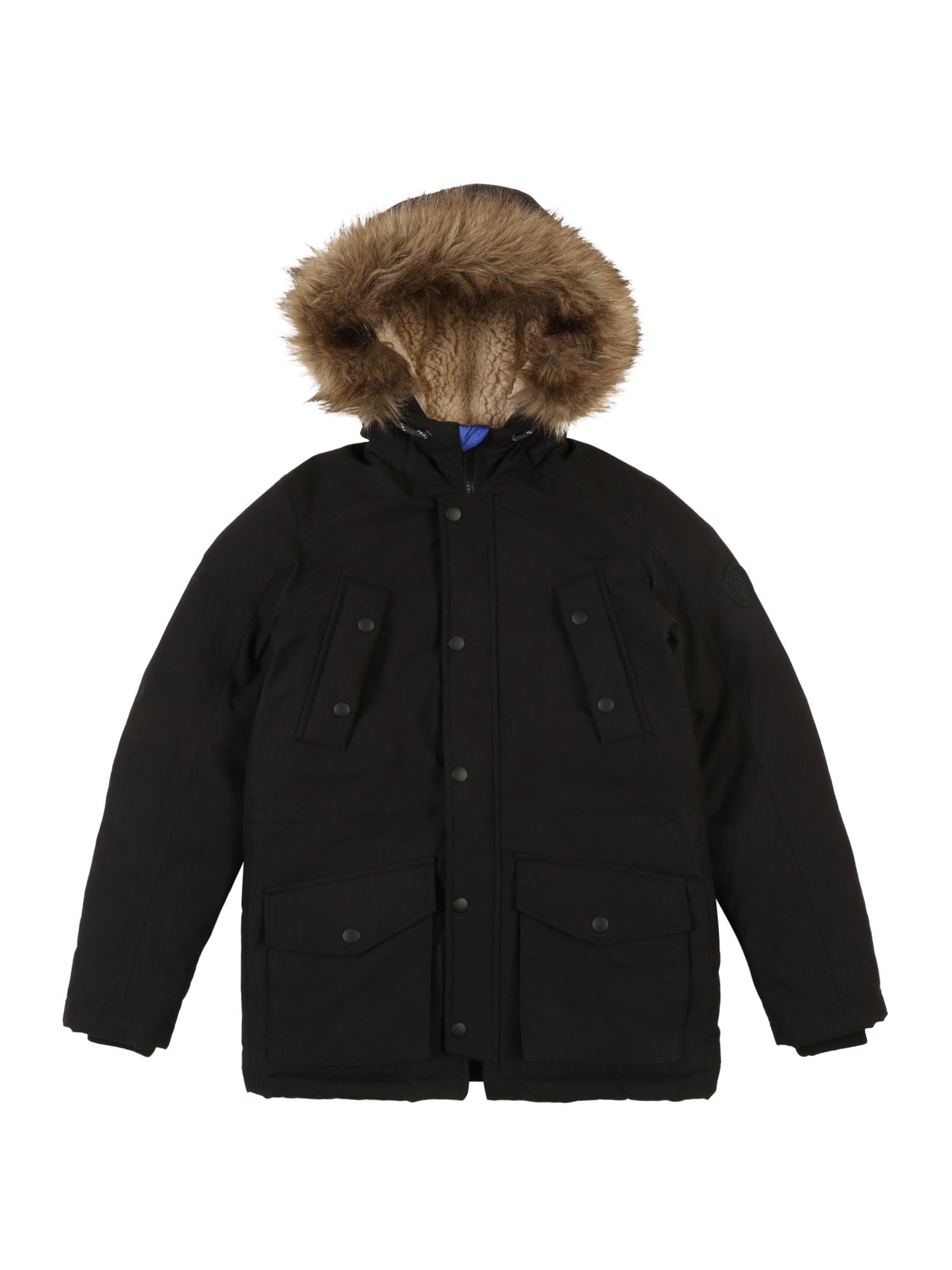 Jack & Jones Junior Žieminė striukė 'EXPLORE' juoda