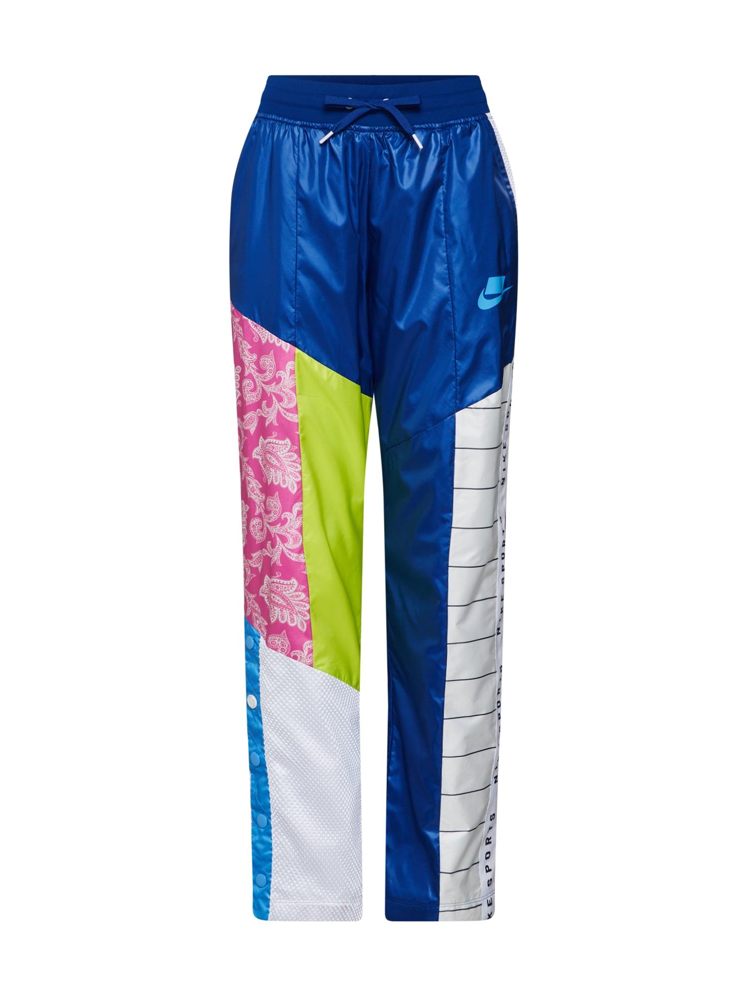 Kalhoty modrá mix barev bílá Nike Sportswear