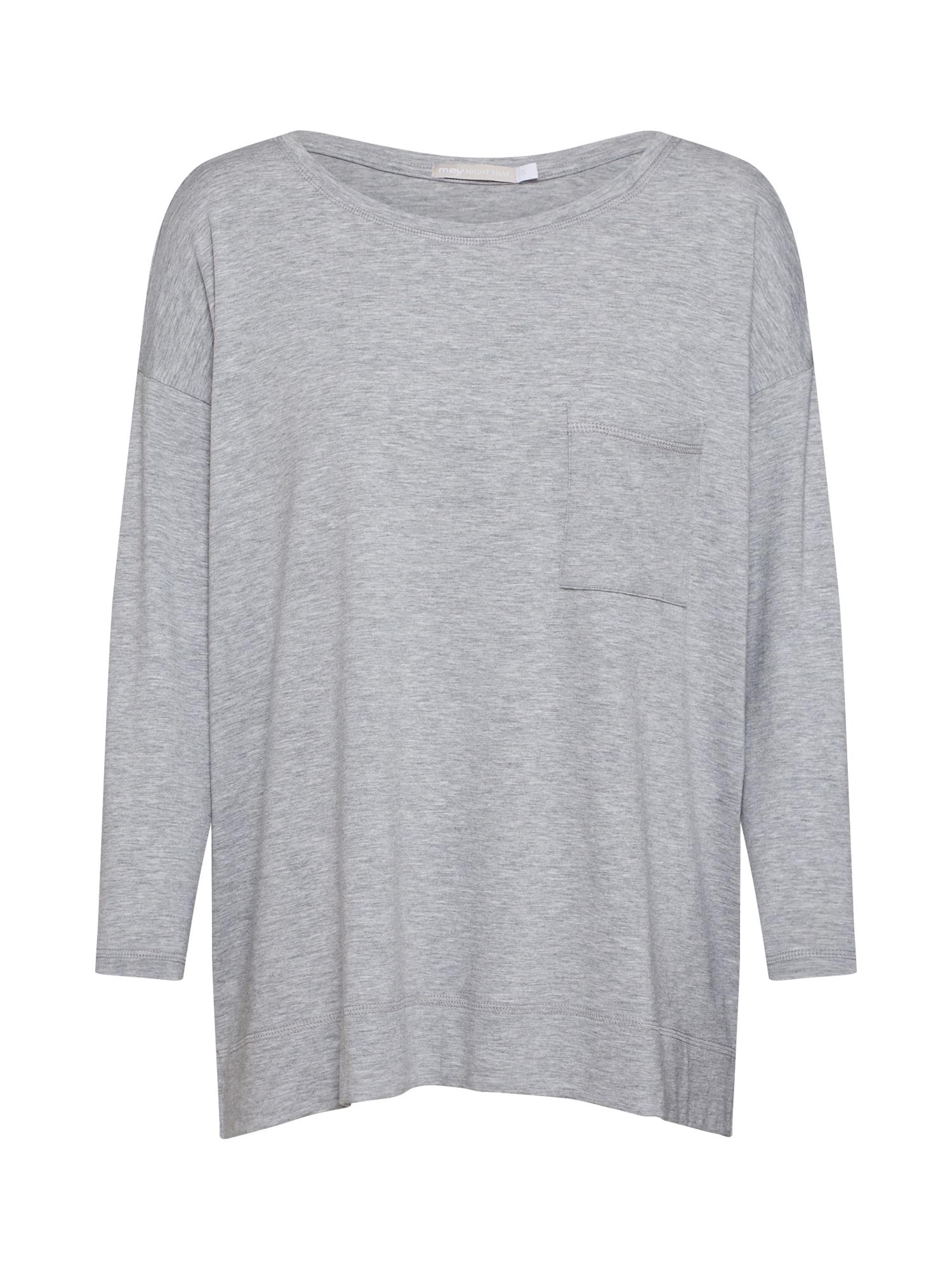 Tričko na spaní NIGHT2DAY šedý melír Mey