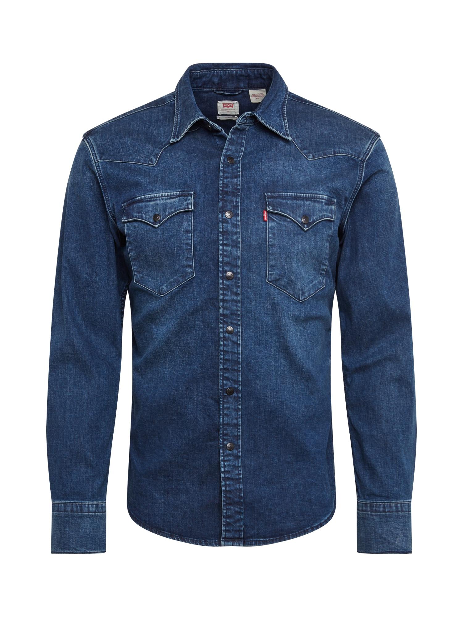 LEVI'S Dalykiniai marškiniai 'BARSTOW WESTERN SLIM' tamsiai (džinso) mėlyna