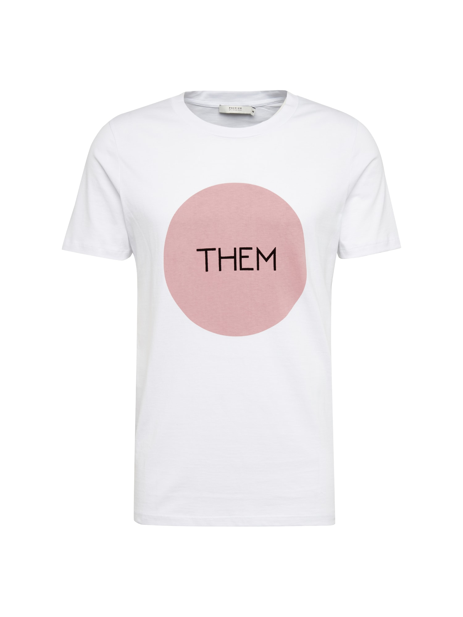 Tričko JPRMARTIN TEE CREW NECK SS EXP růžová bílá JACK & JONES