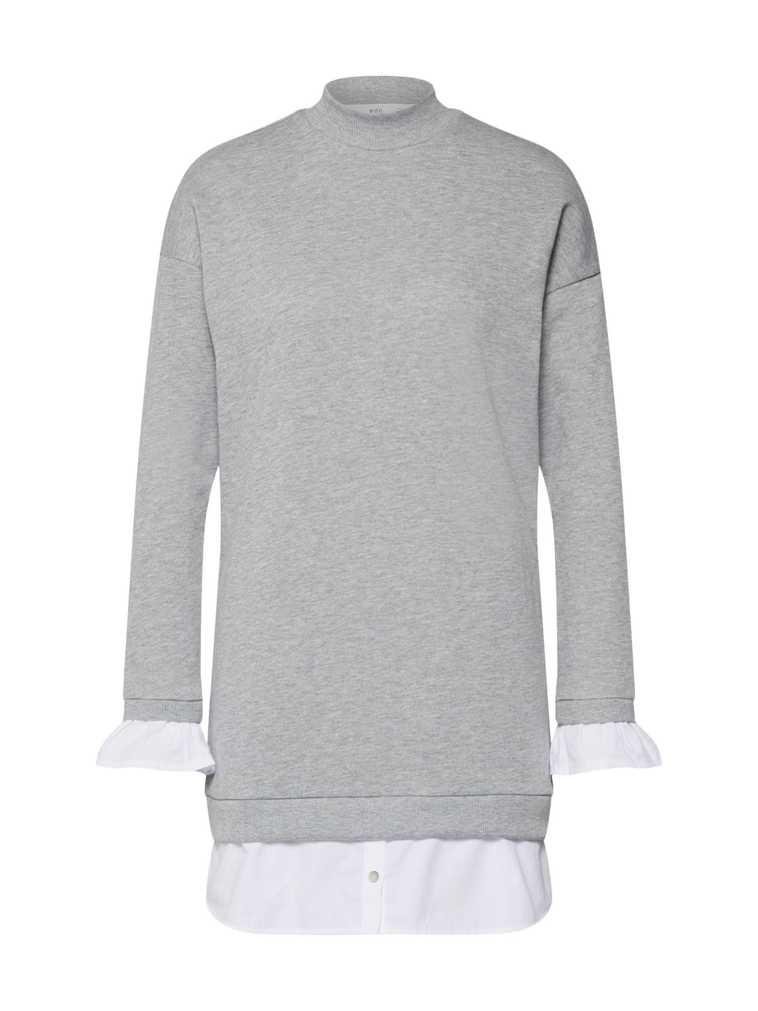 Šaty EOS sweatdress Dresses knitted šedá bílá EDC BY ESPRIT
