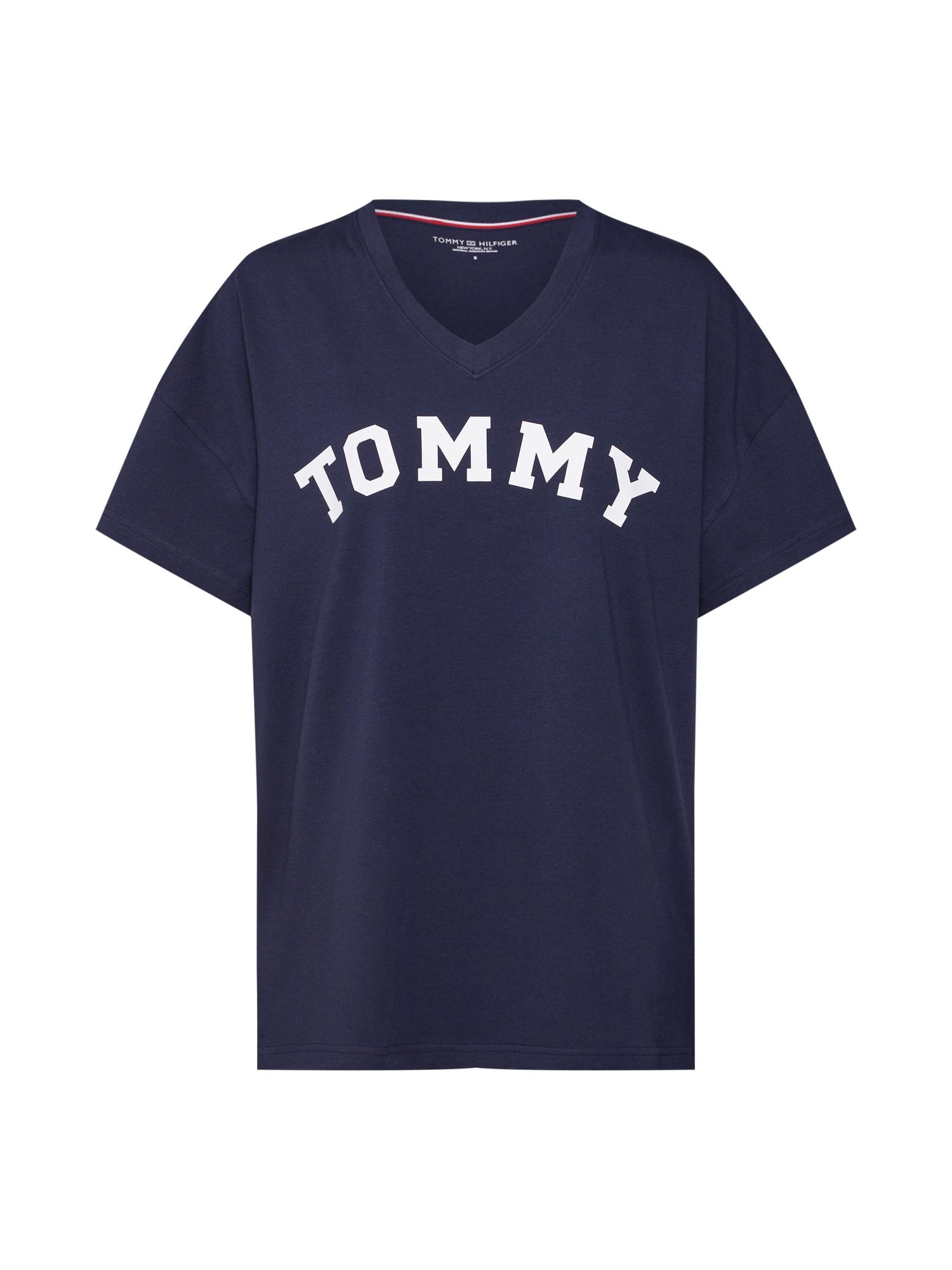 Tričko na spaní tmavě modrá Tommy Hilfiger Underwear