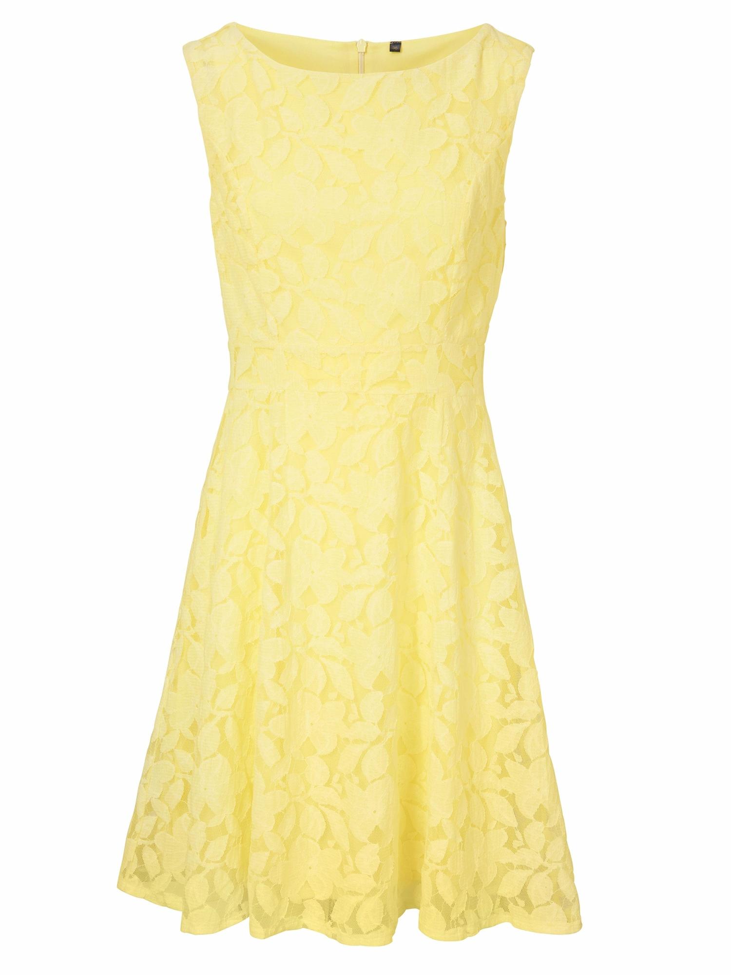 Koktejlové šaty žlutá Heine