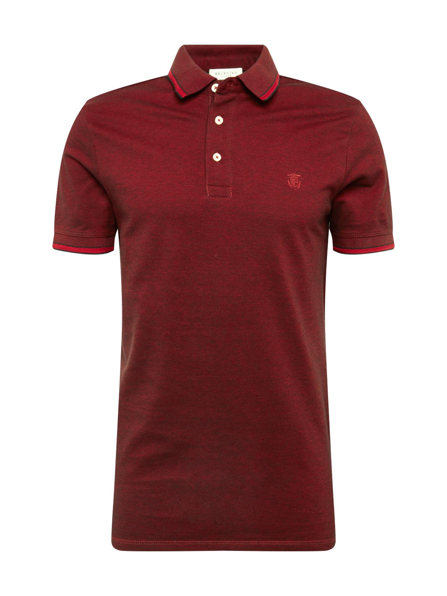 Tričko SLHTWIST vínově červená SELECTED HOMME