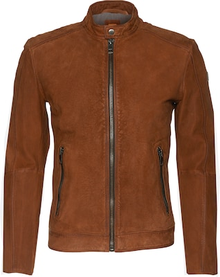 BOSS ORANGE Lederjacke im Biker-Stil 'Jonate'