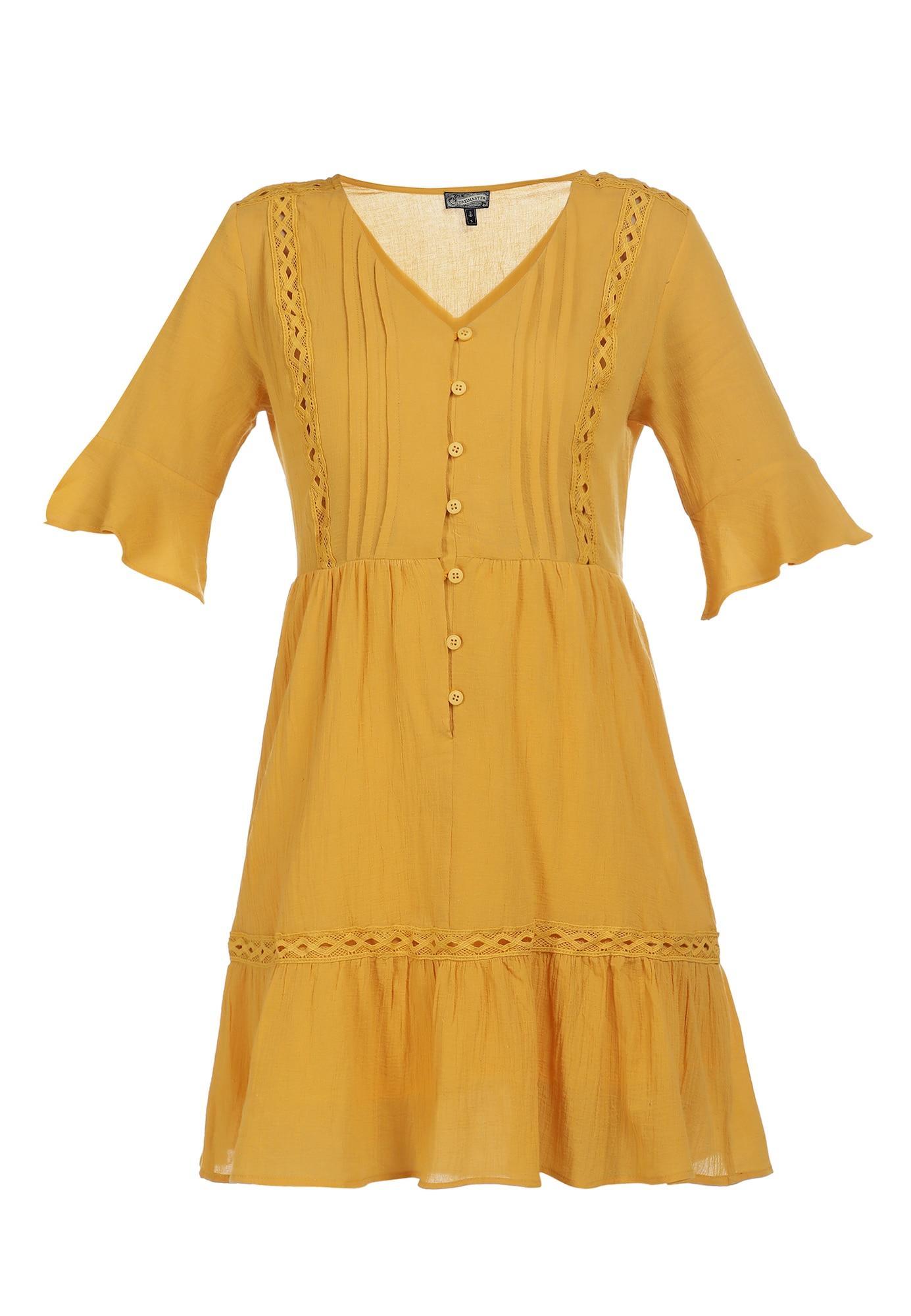 DreiMaster Vintage Vasarinė suknelė medaus spalva