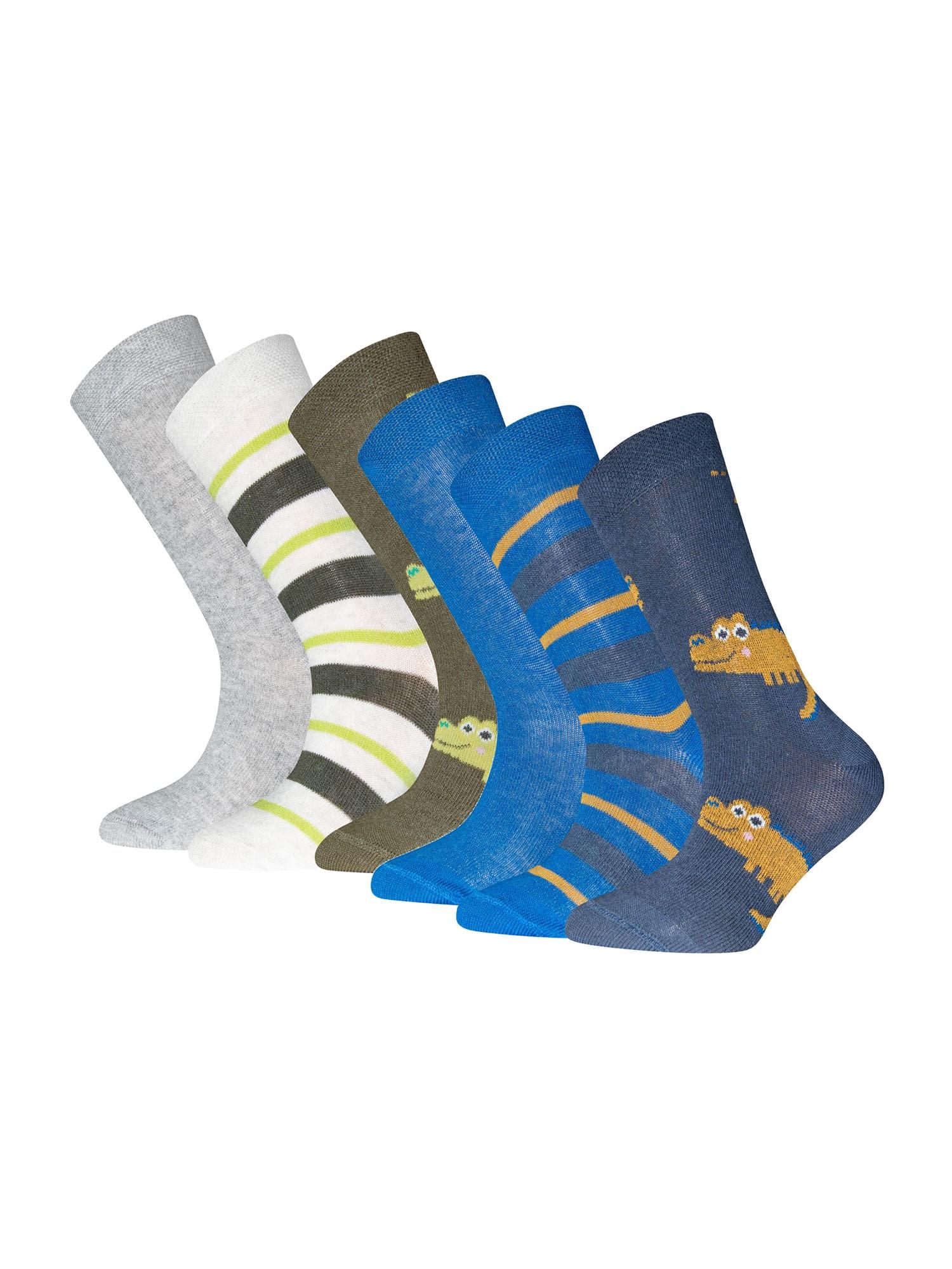 EWERS Kojinės alyvuogių spalva / tamsiai mėlyna / pilka