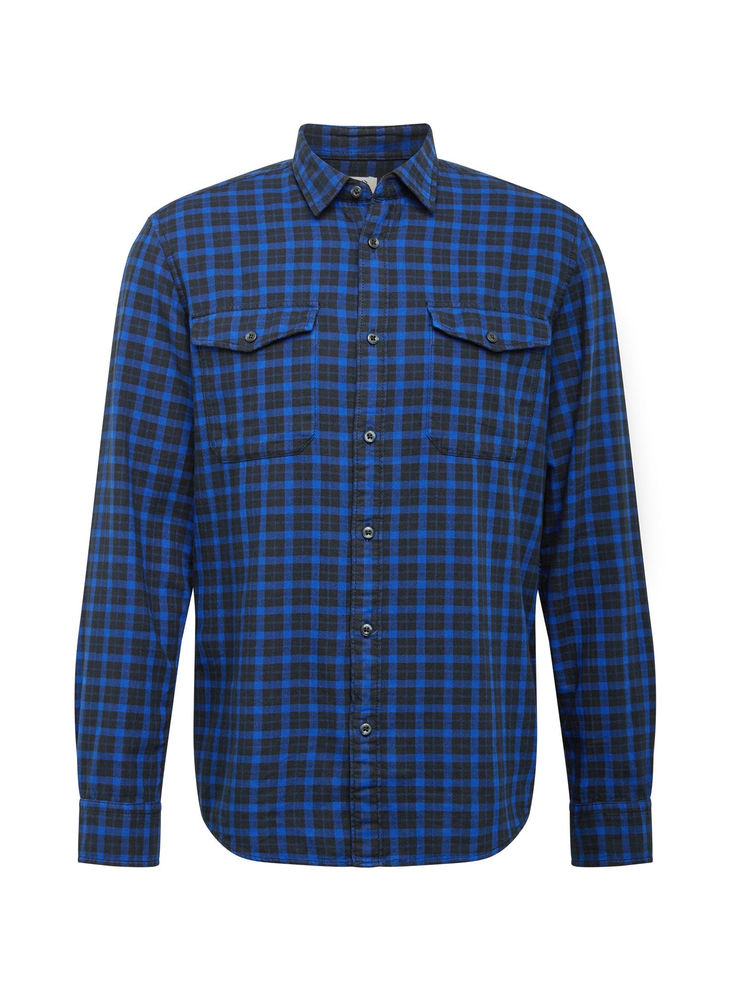 EDC BY ESPRIT Marškiniai mėlyna / juoda