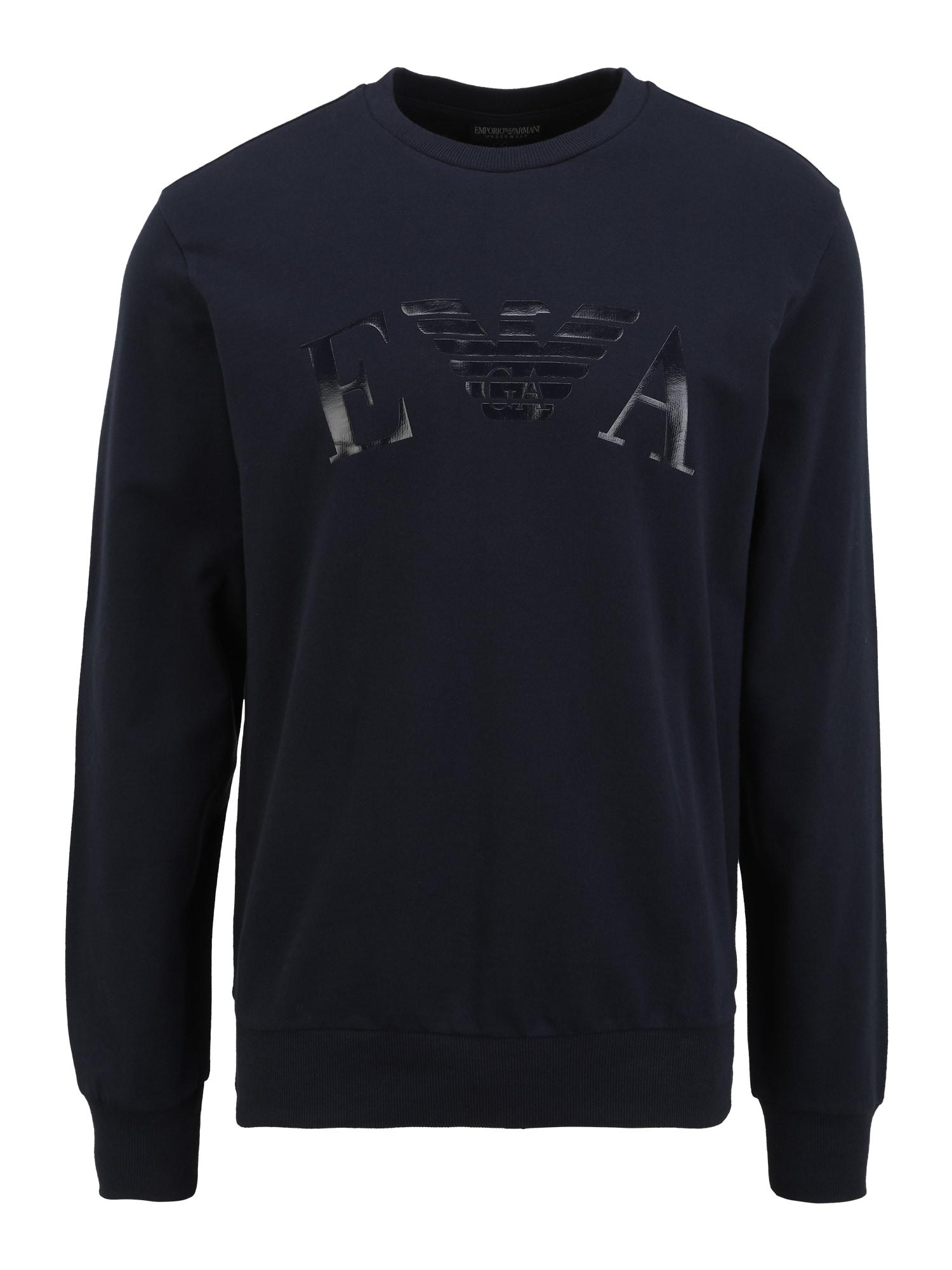 Emporio Armani Megztinis be užsegimo tamsiai mėlyna