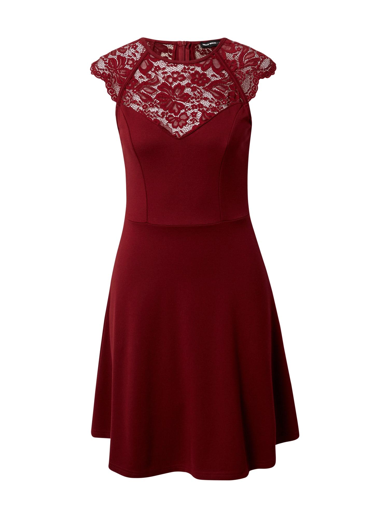 Tally Weijl Kokteilinė suknelė tamsiai raudona