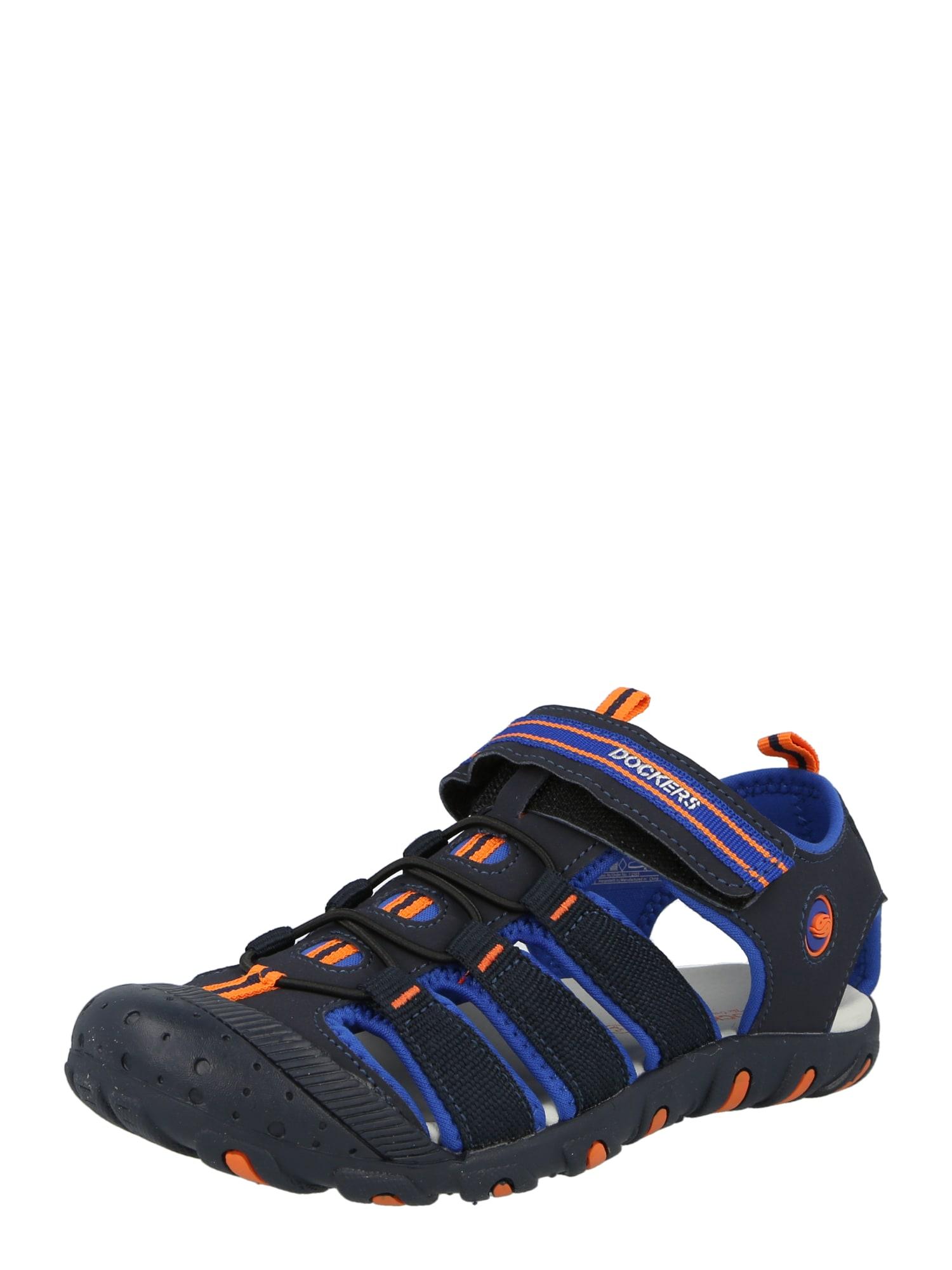 """Dockers by Gerli Atviri batai tamsiai mėlyna / oranžinė / sodri mėlyna (""""karališka"""") / balta"""