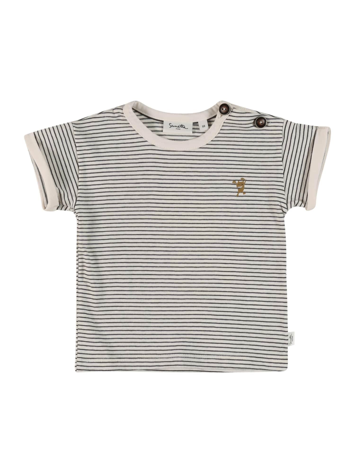 Sanetta Pure Marškinėliai balta / juoda