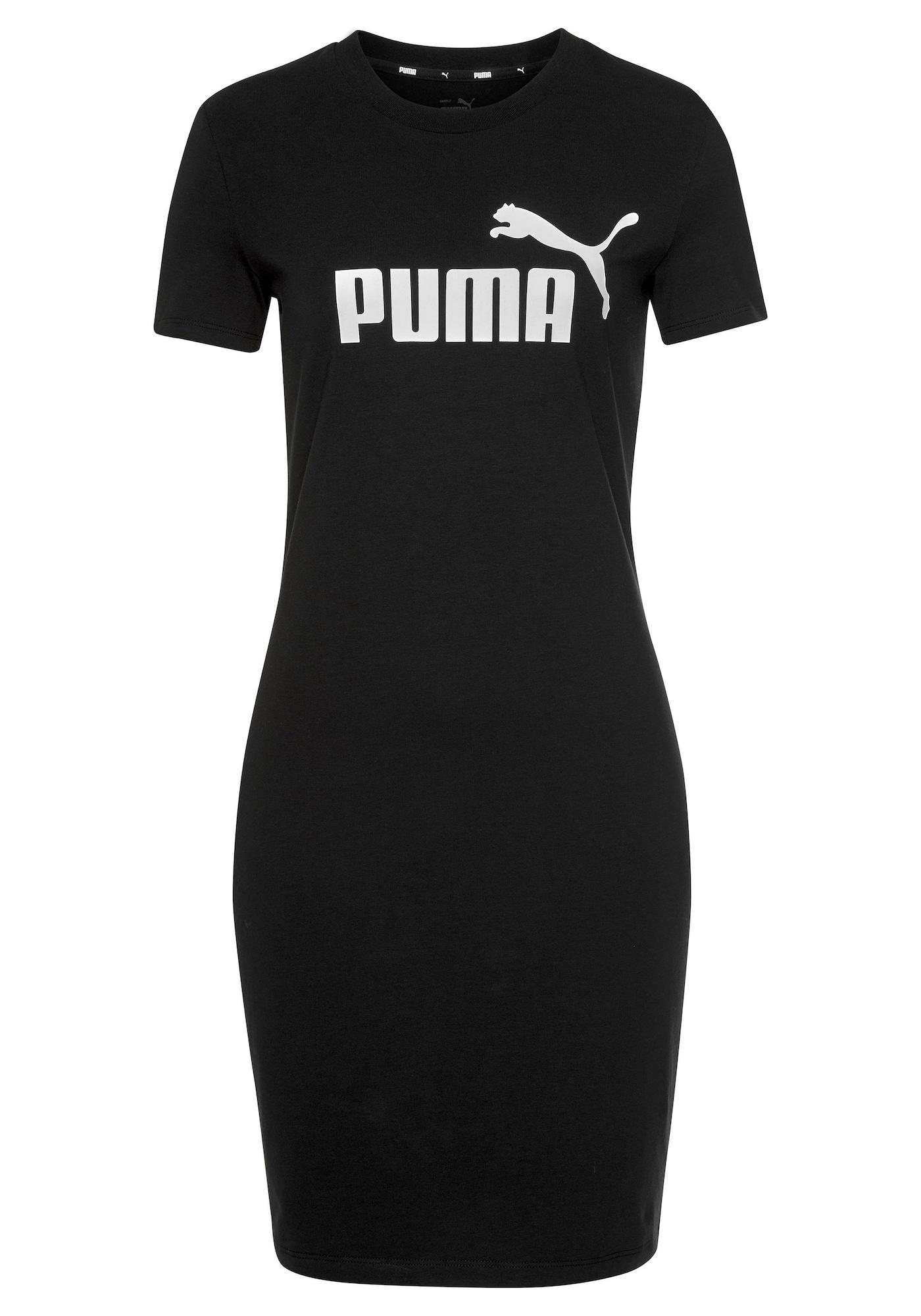 PUMA Suknelė juoda / balta