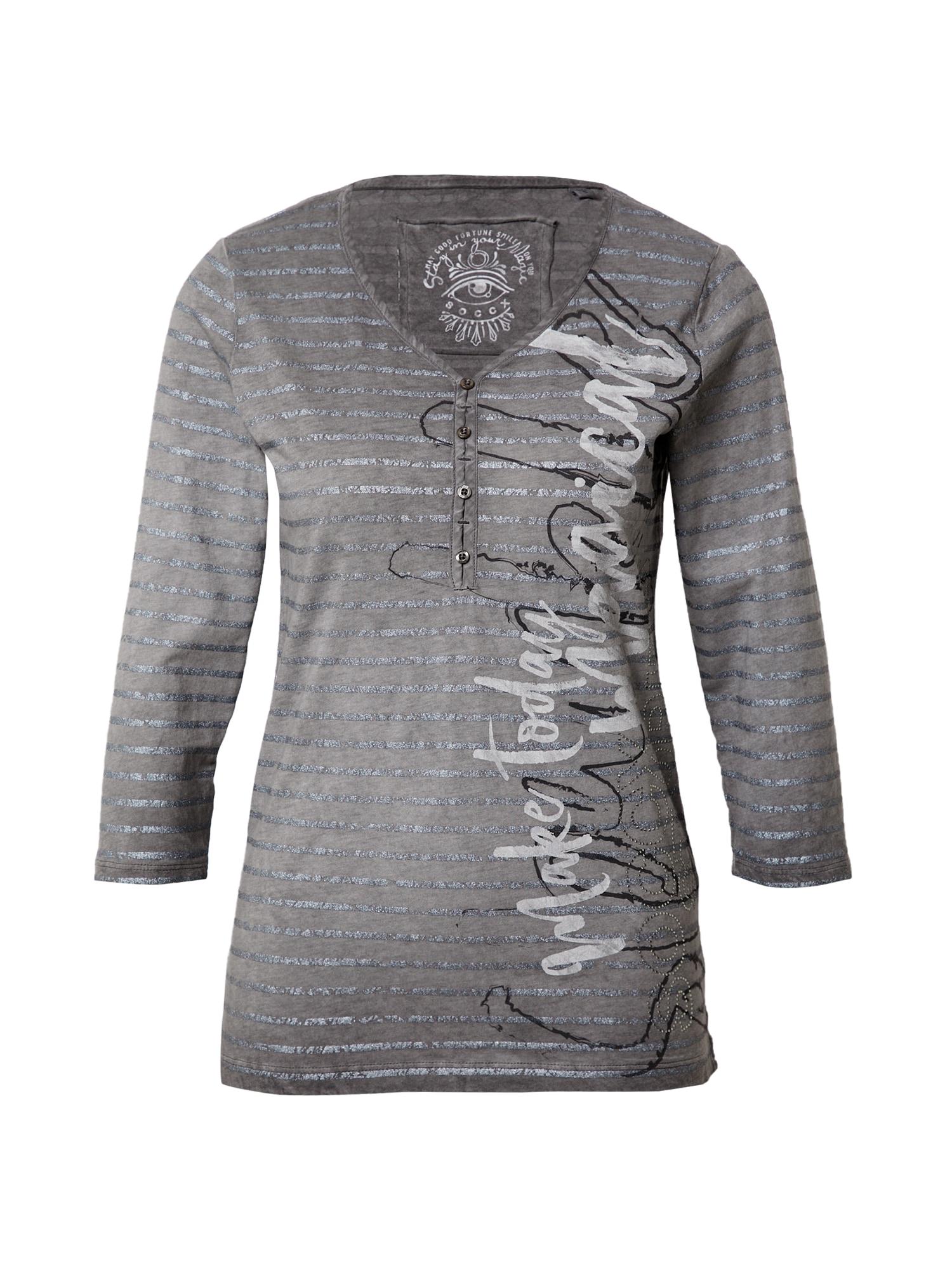 Soccx Marškinėliai pilka / sidabrinė
