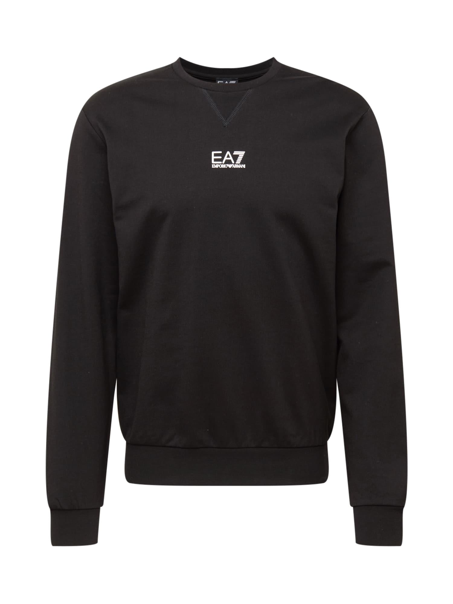 EA7 Emporio Armani Megztinis be užsegimo juoda / balta