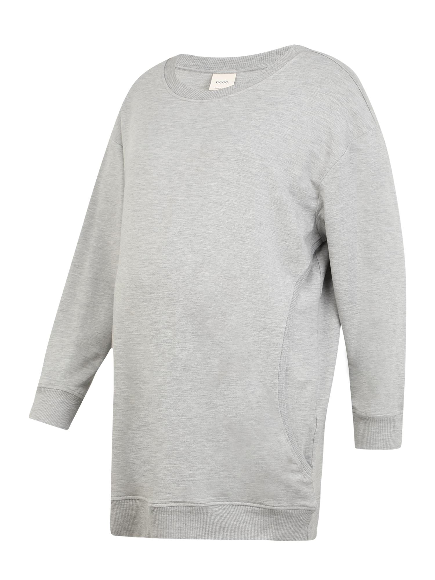 BOOB Megztinis be užsegimo margai pilka