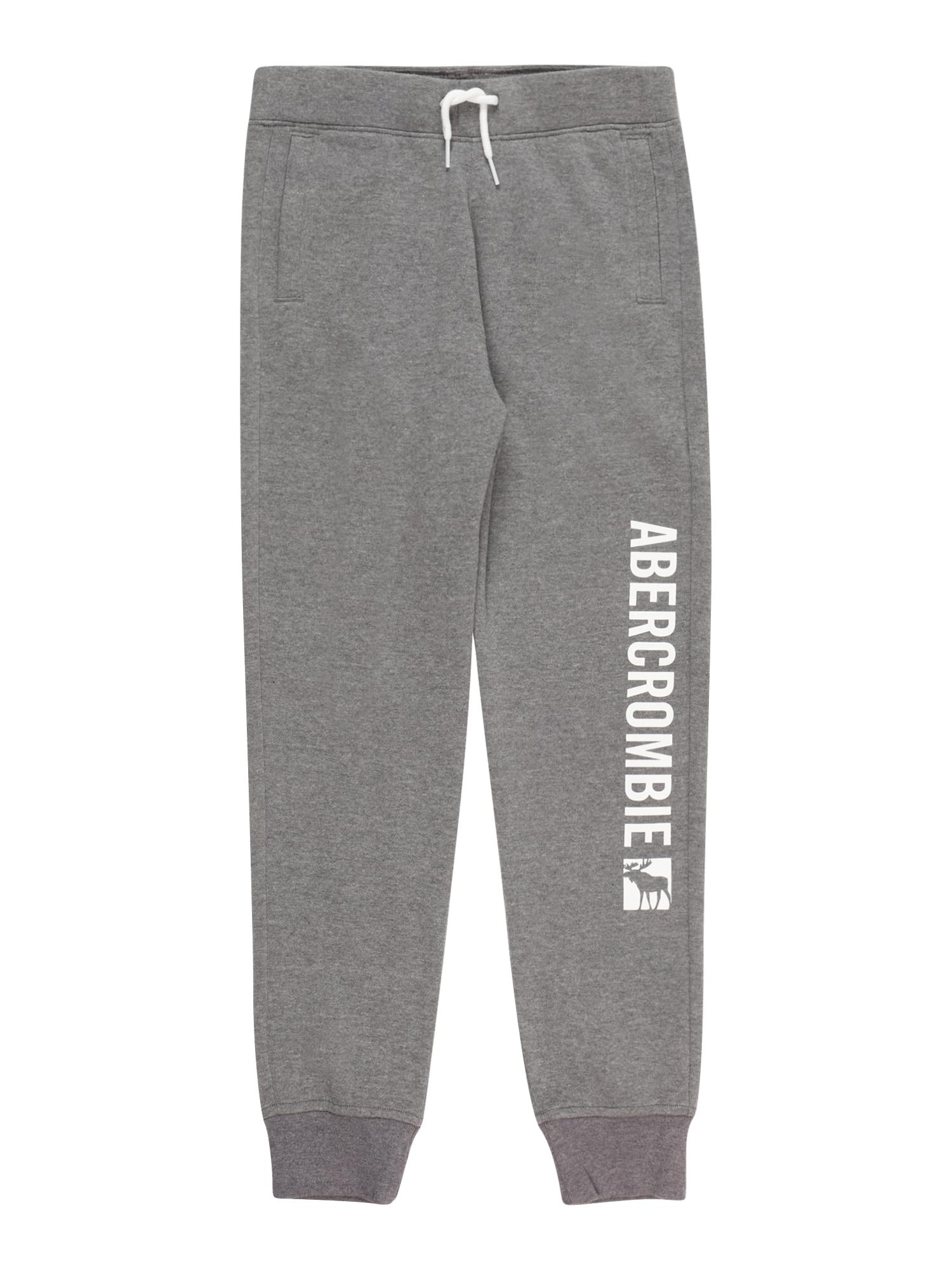 Abercrombie & Fitch Kelnės margai pilka / balta