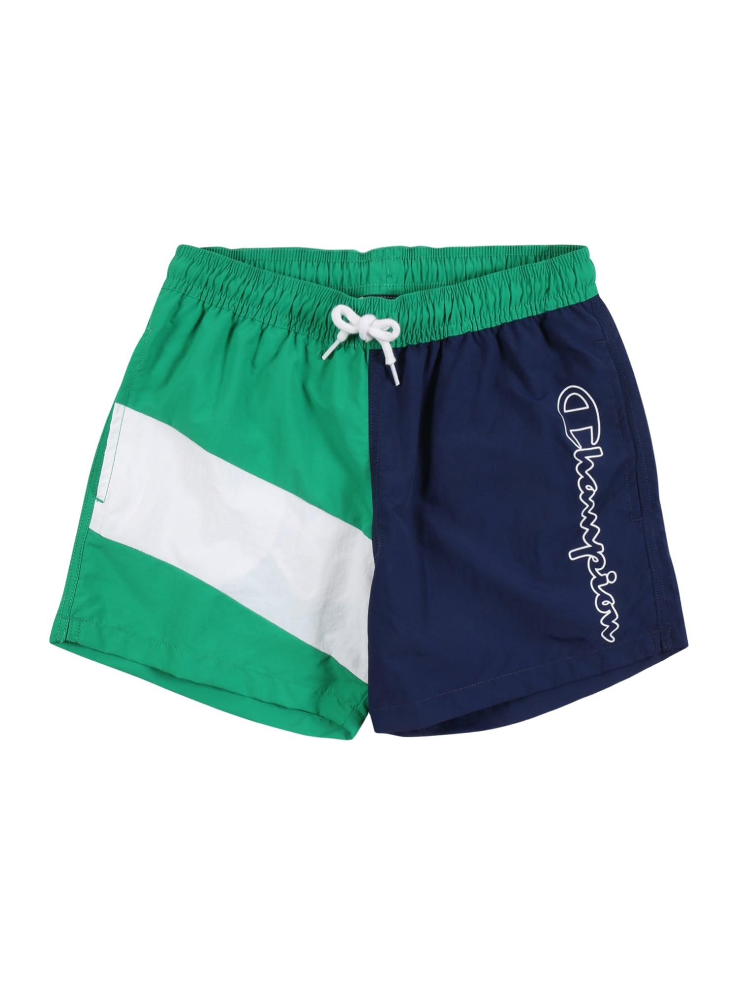 Champion Authentic Athletic Apparel Maudymosi trumpikės žalia / balta / tamsiai mėlyna