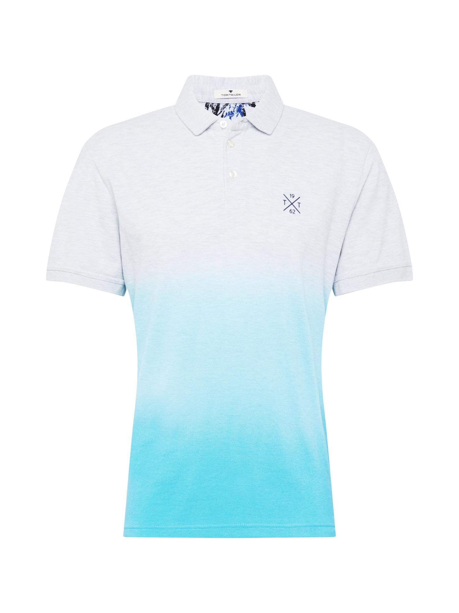 TOM TAILOR Tričko  aqua modrá / světle šedá