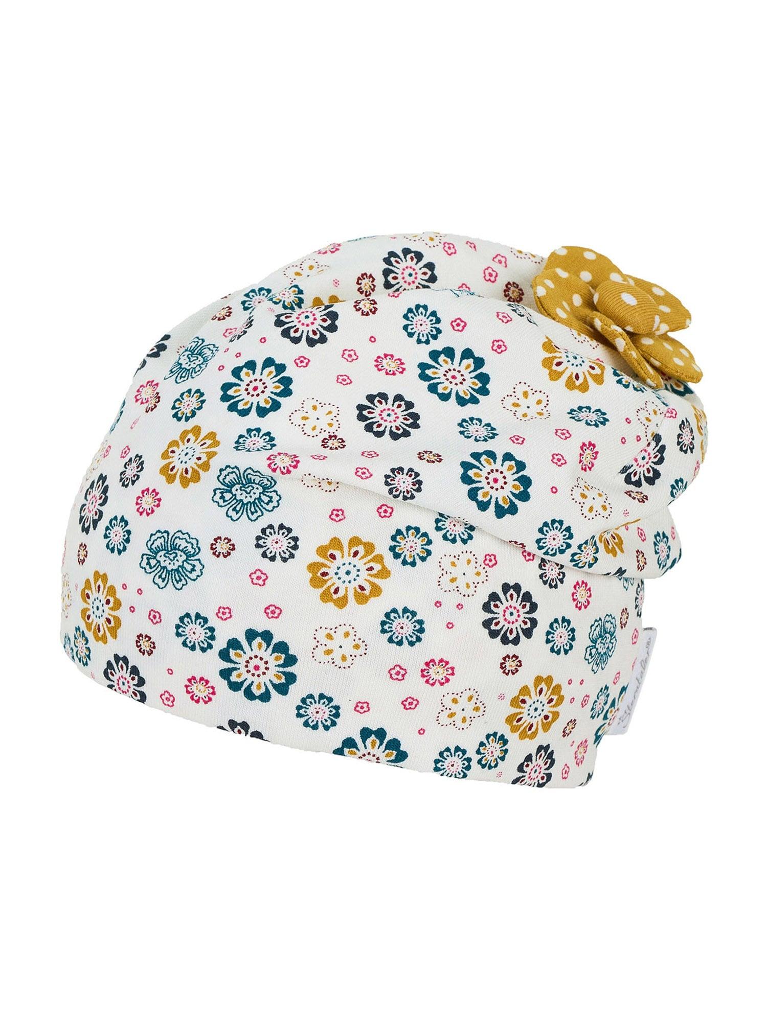 STERNTALER Čepice  bílá / námořnická modř / pink / hořčicová