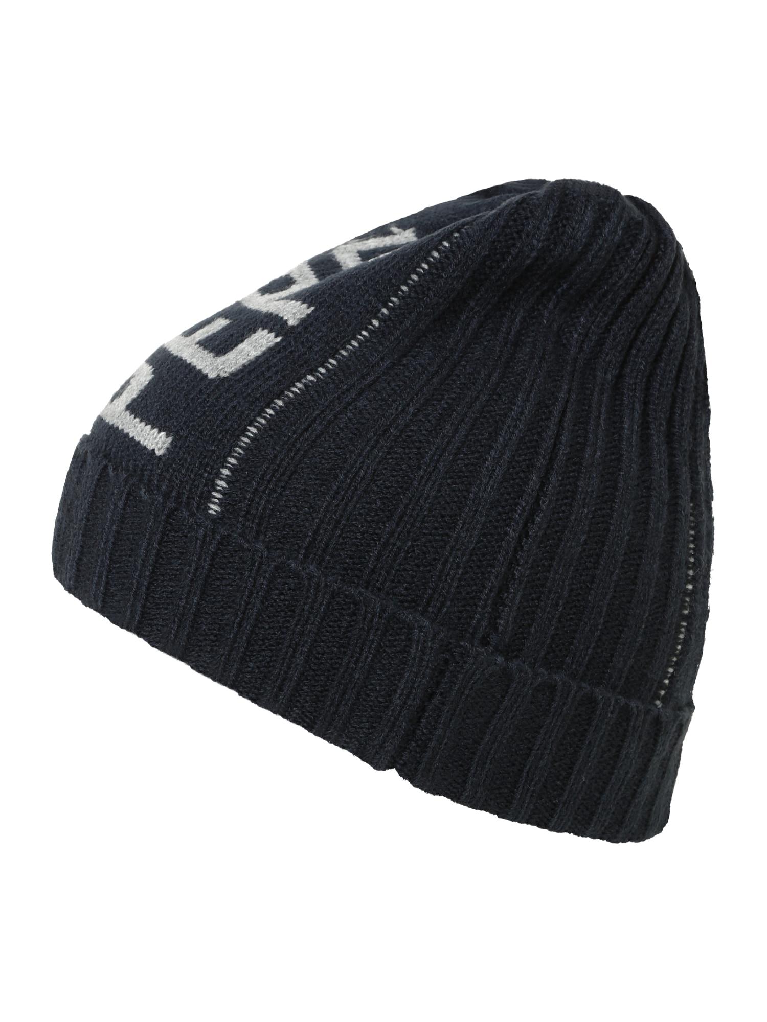 Pepe Jeans Megzta kepurė 'FABIO' tamsiai mėlyna jūros spalva / šviesiai pilka