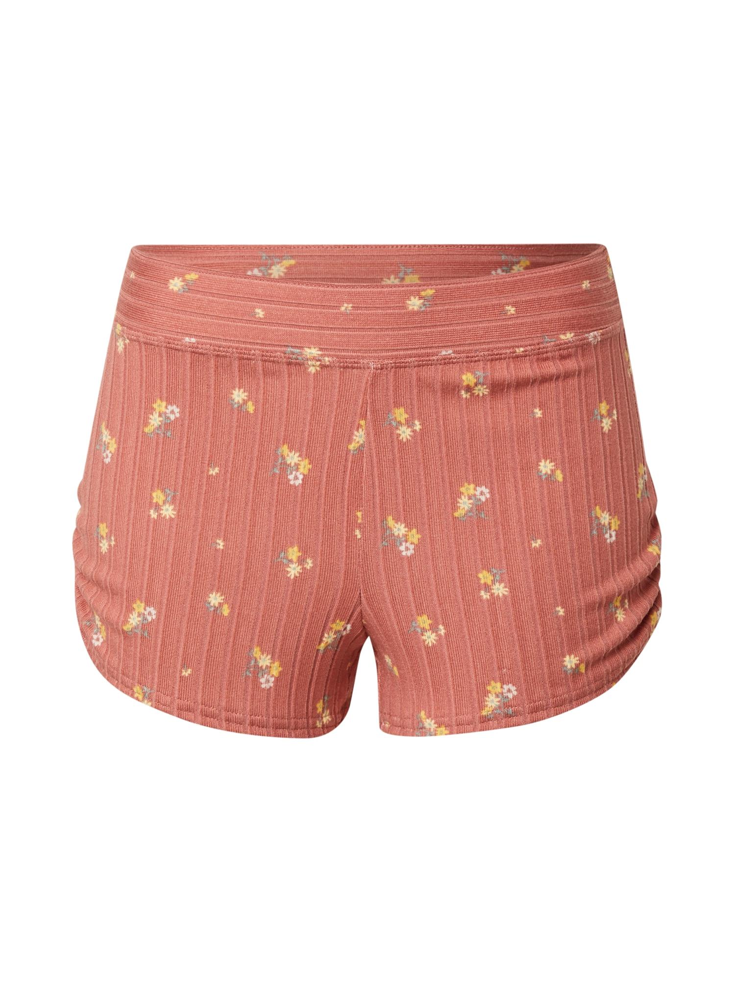 Gilly Hicks Pyžamové nohavice  rosé / pastelovo žltá / biela / opálová