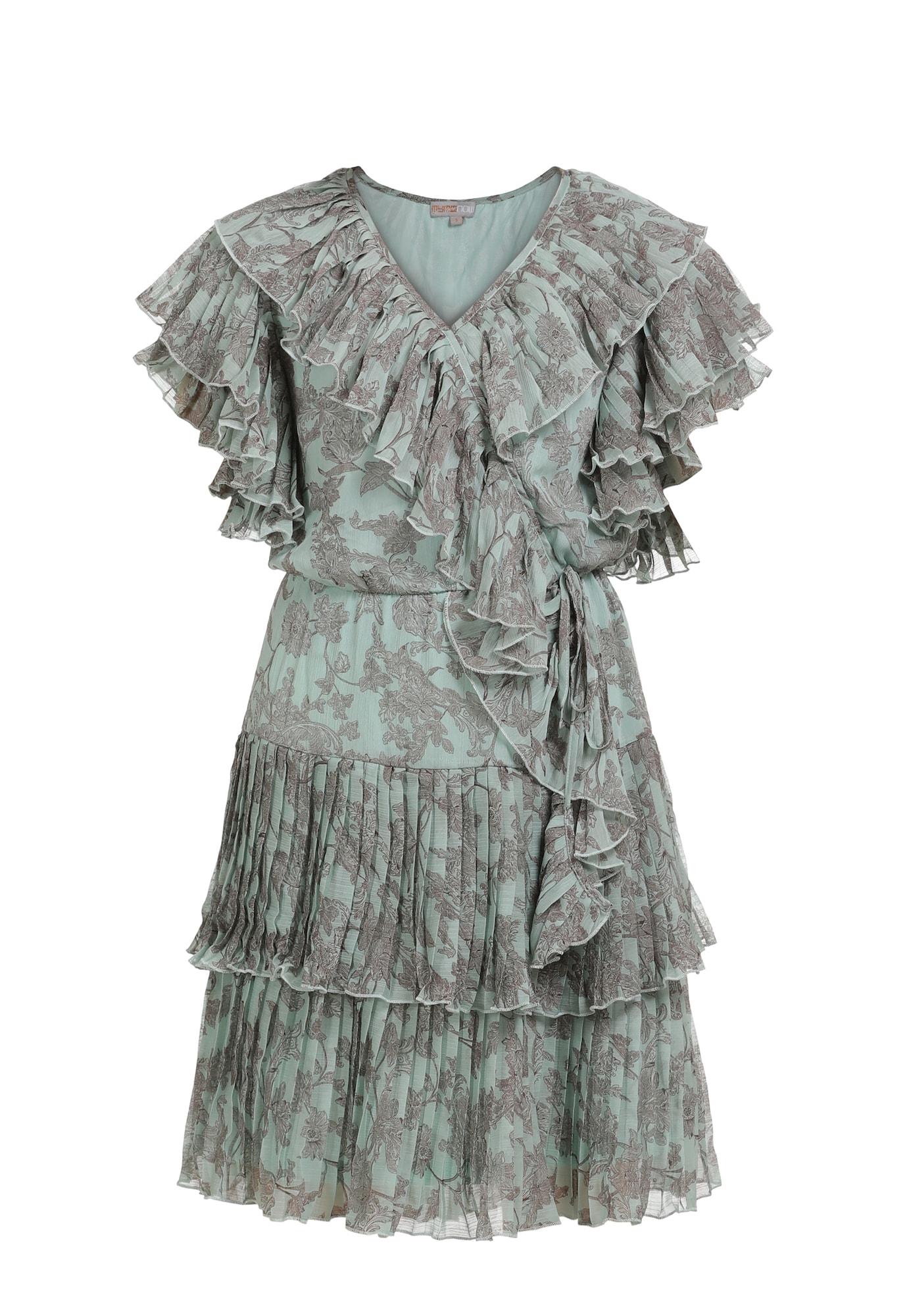 myMo NOW Vasarinė suknelė mėtų spalva / pilka