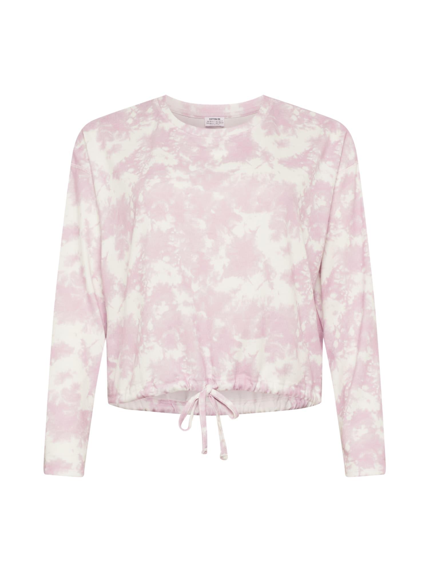 Cotton On Curve Megztinis be užsegimo rožių spalva / balta