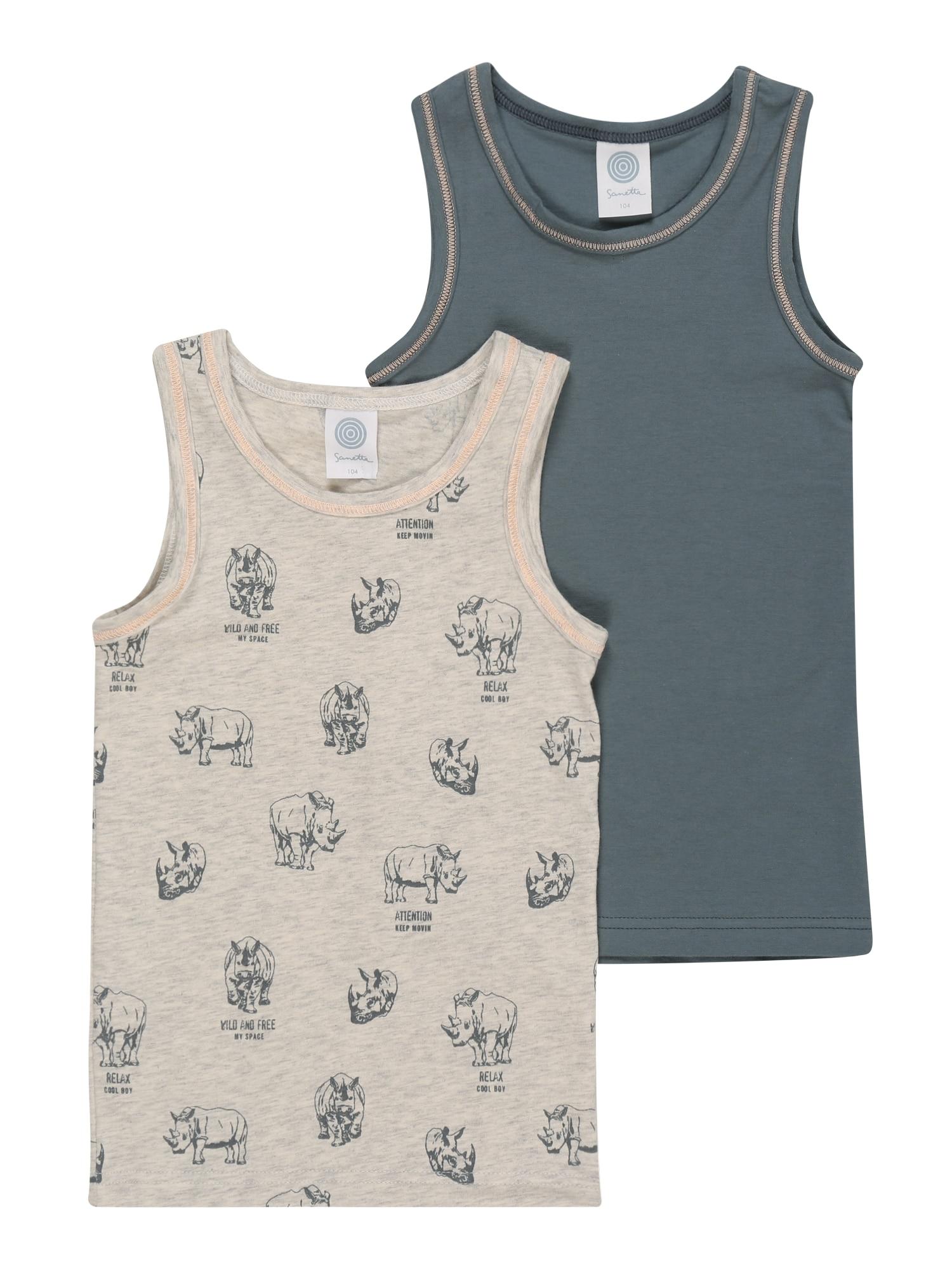 SANETTA Apatiniai marškinėliai margai pilka / dūmų pilka