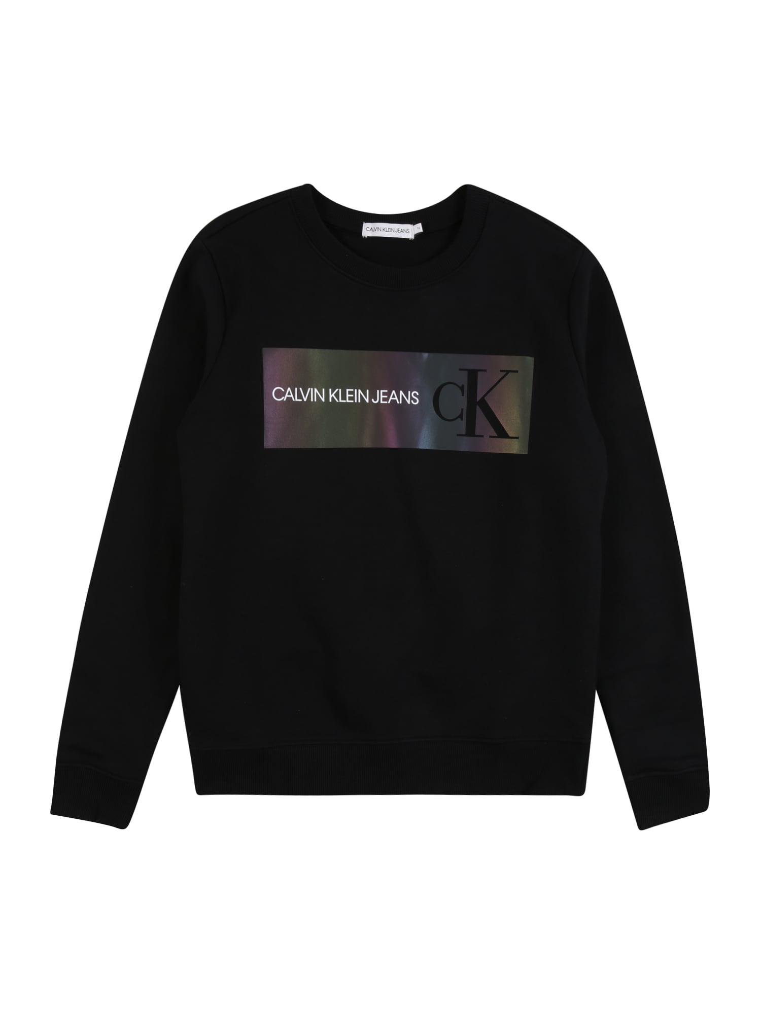 Calvin Klein Jeans Megztinis be užsegimo juoda / mišrios spalvos / balta