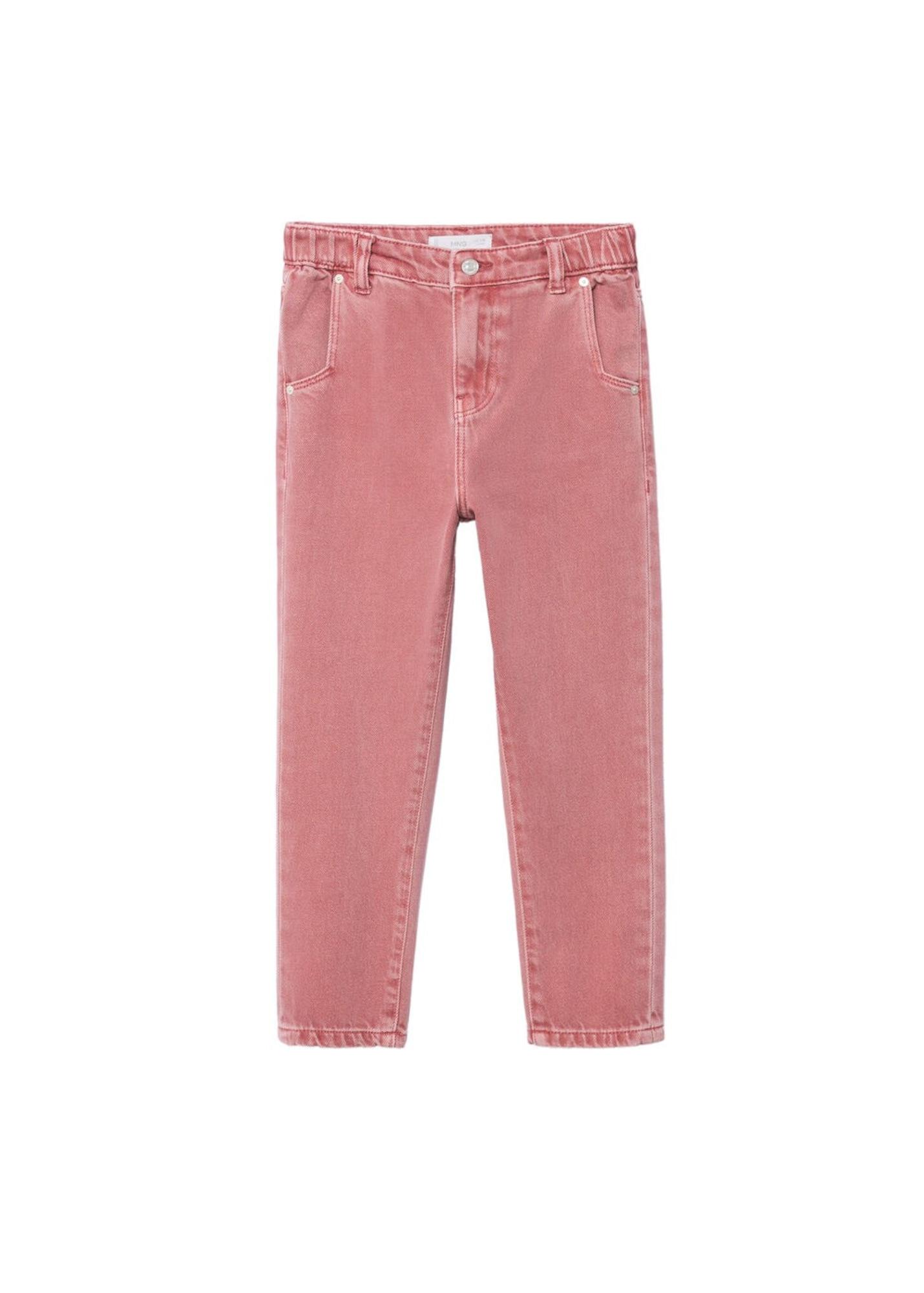 MANGO KIDS Džíny  pink