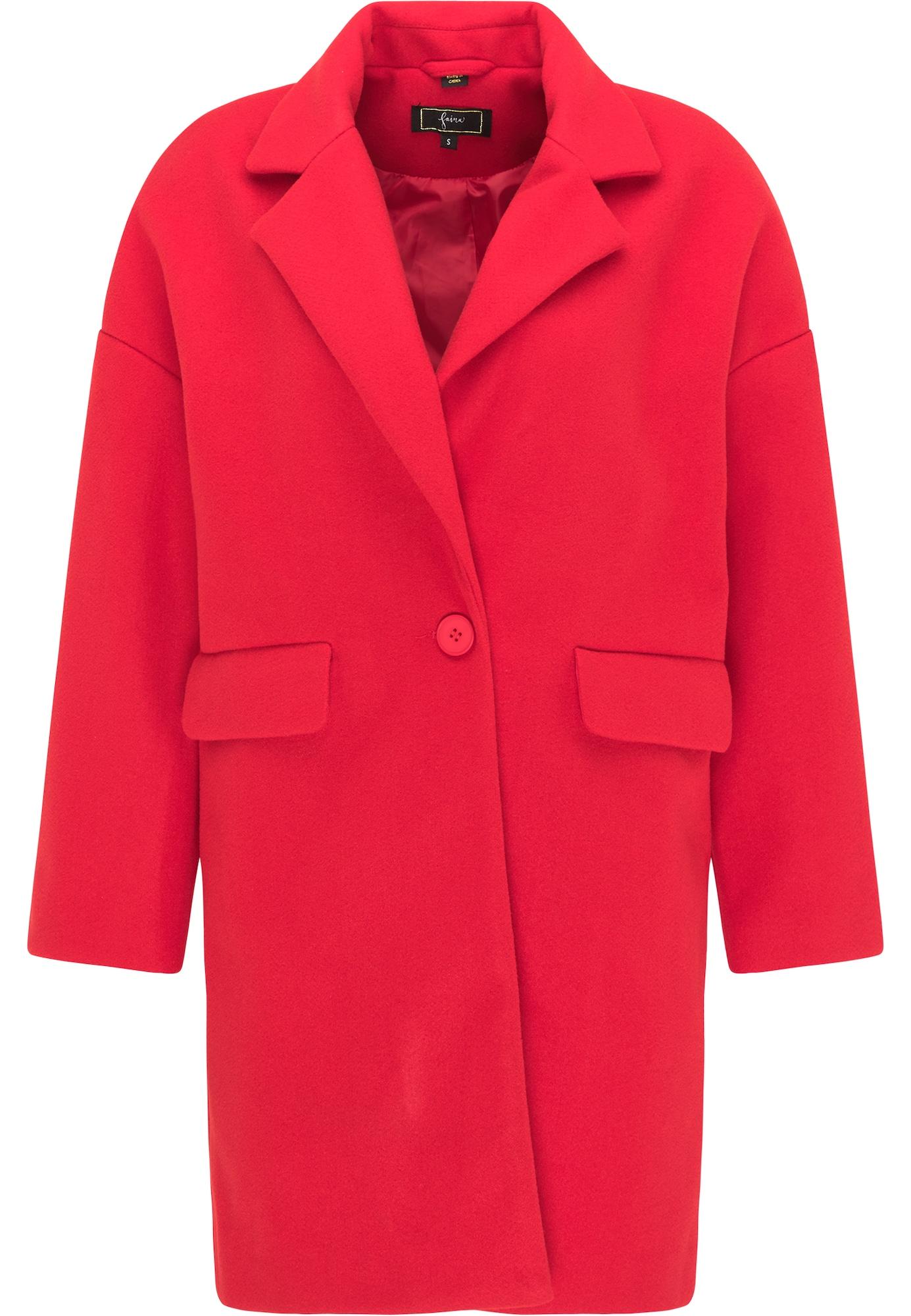 faina Demisezoninis paltas spanguolių spalva