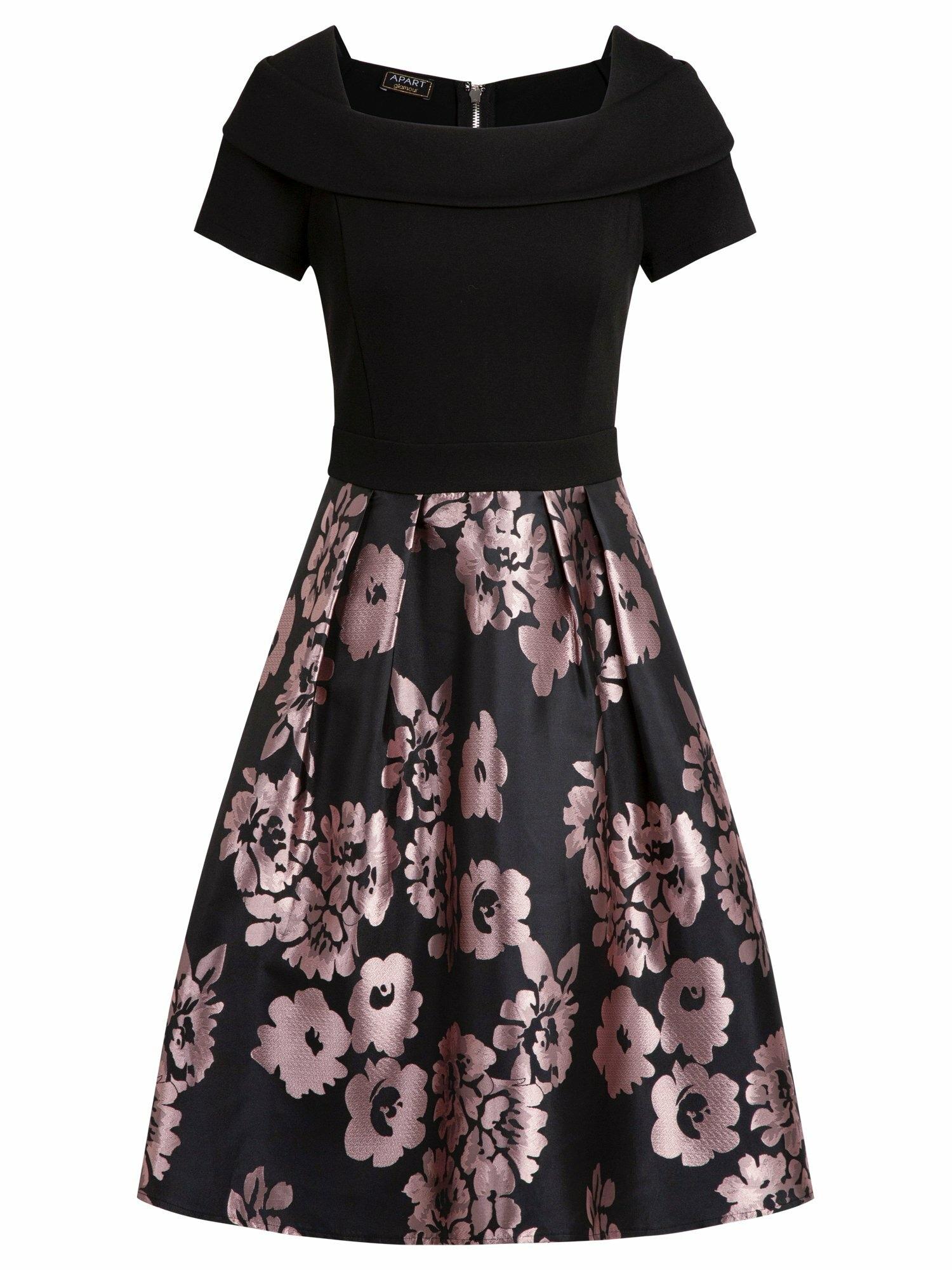 APART Suknelė juoda / purpurinė