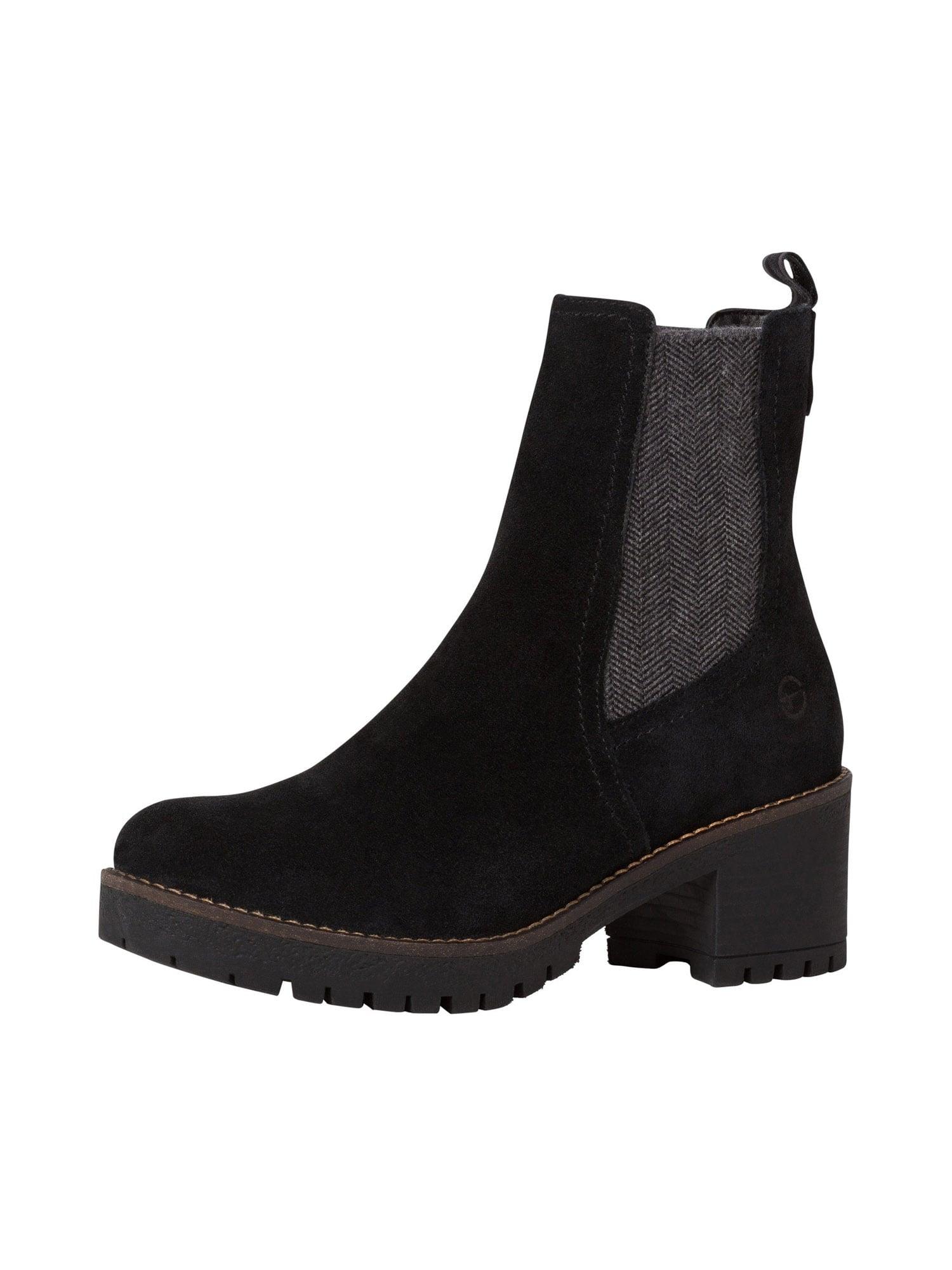 TAMARIS Chelsea boty  šedá / černá