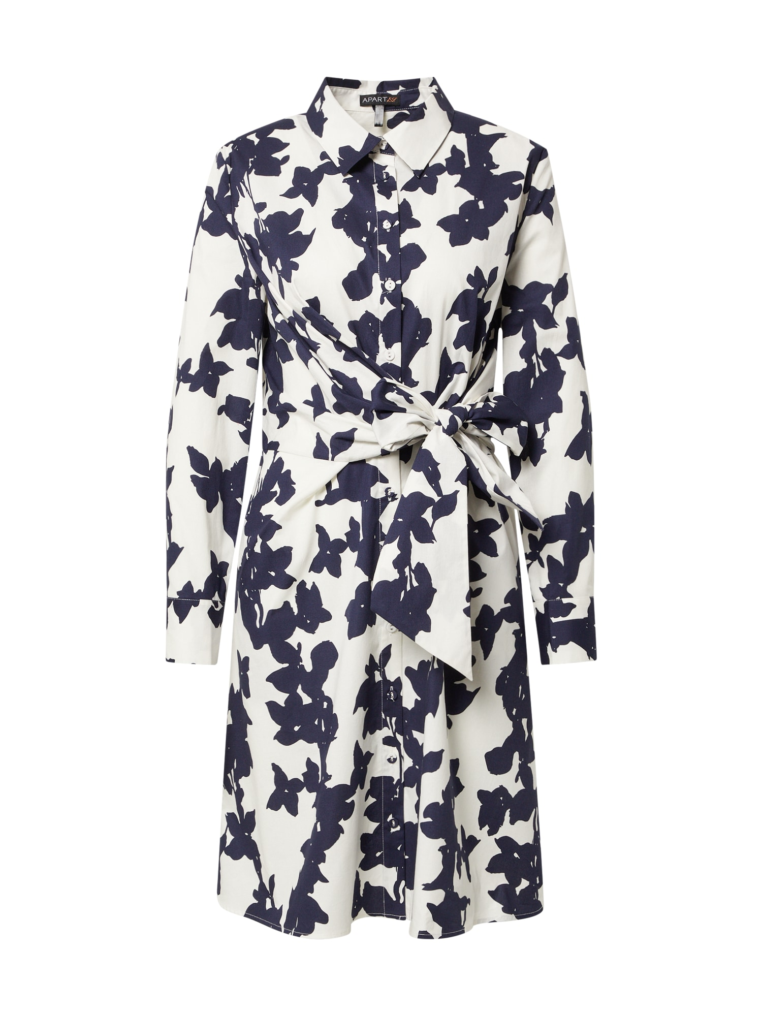 APART Palaidinės tipo suknelė balta / tamsiai mėlyna